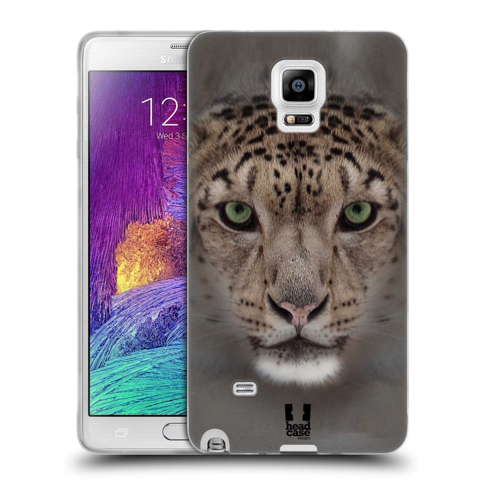 HEAD CASE silikonový obal na mobil Samsung Galaxy Note 4 (N910) vzor Zvířecí tváře 2 sněžný leopard