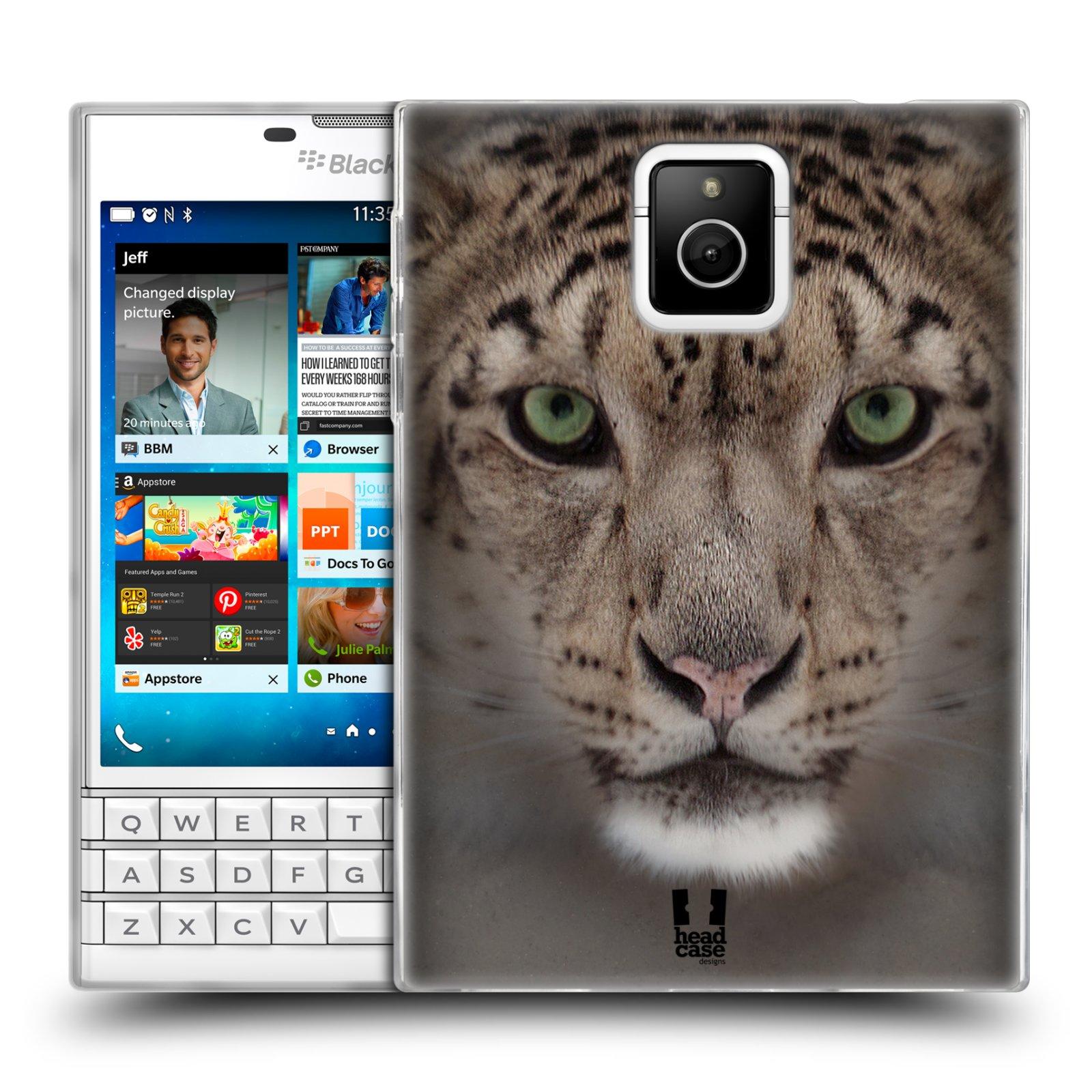 HEAD CASE silikonový obal na mobil Blackberry PASSPORT vzor Zvířecí tváře 2 sněžný leopard