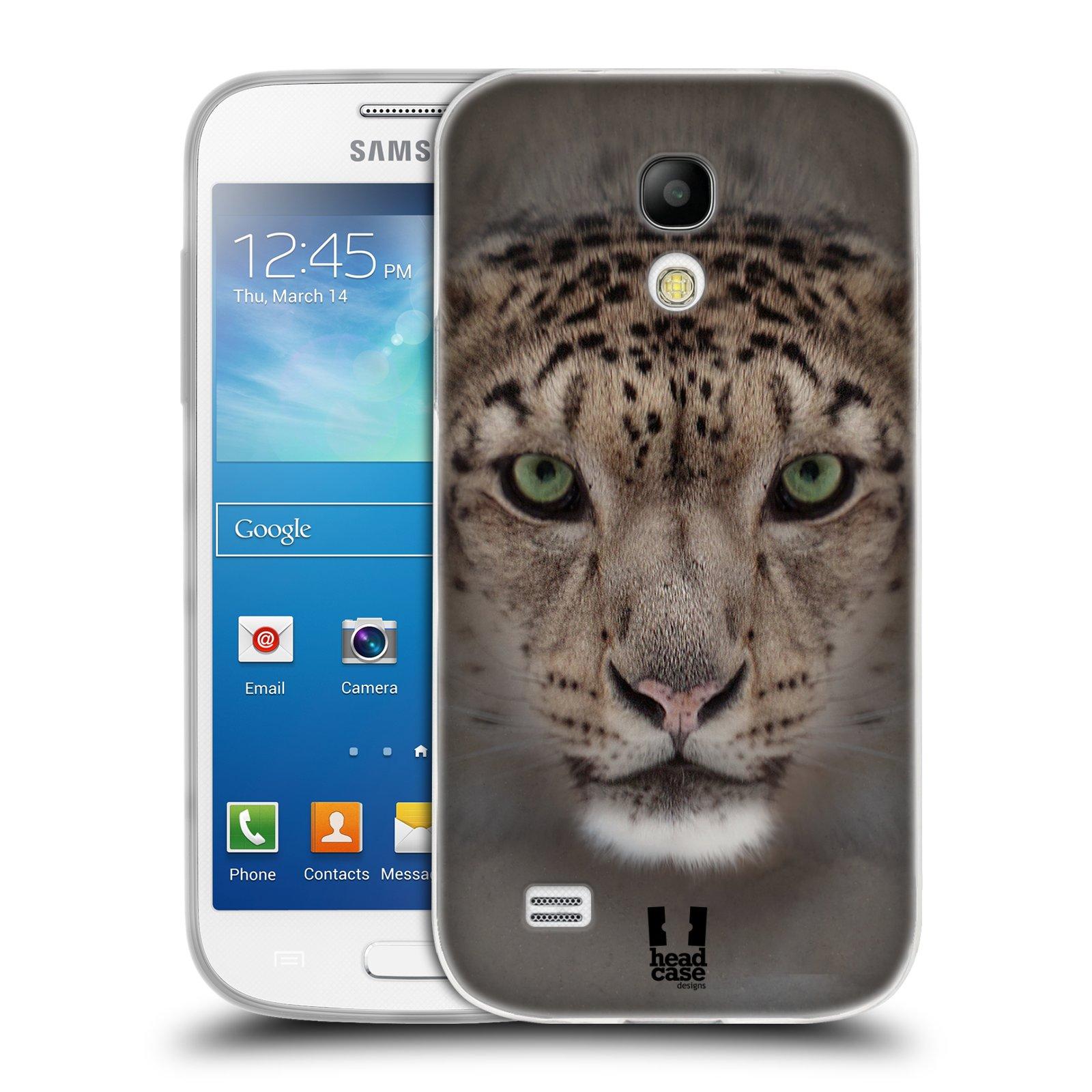 HEAD CASE silikonový obal na mobil Samsung Galaxy S4 MINI vzor Zvířecí tváře 2 sněžný leopard