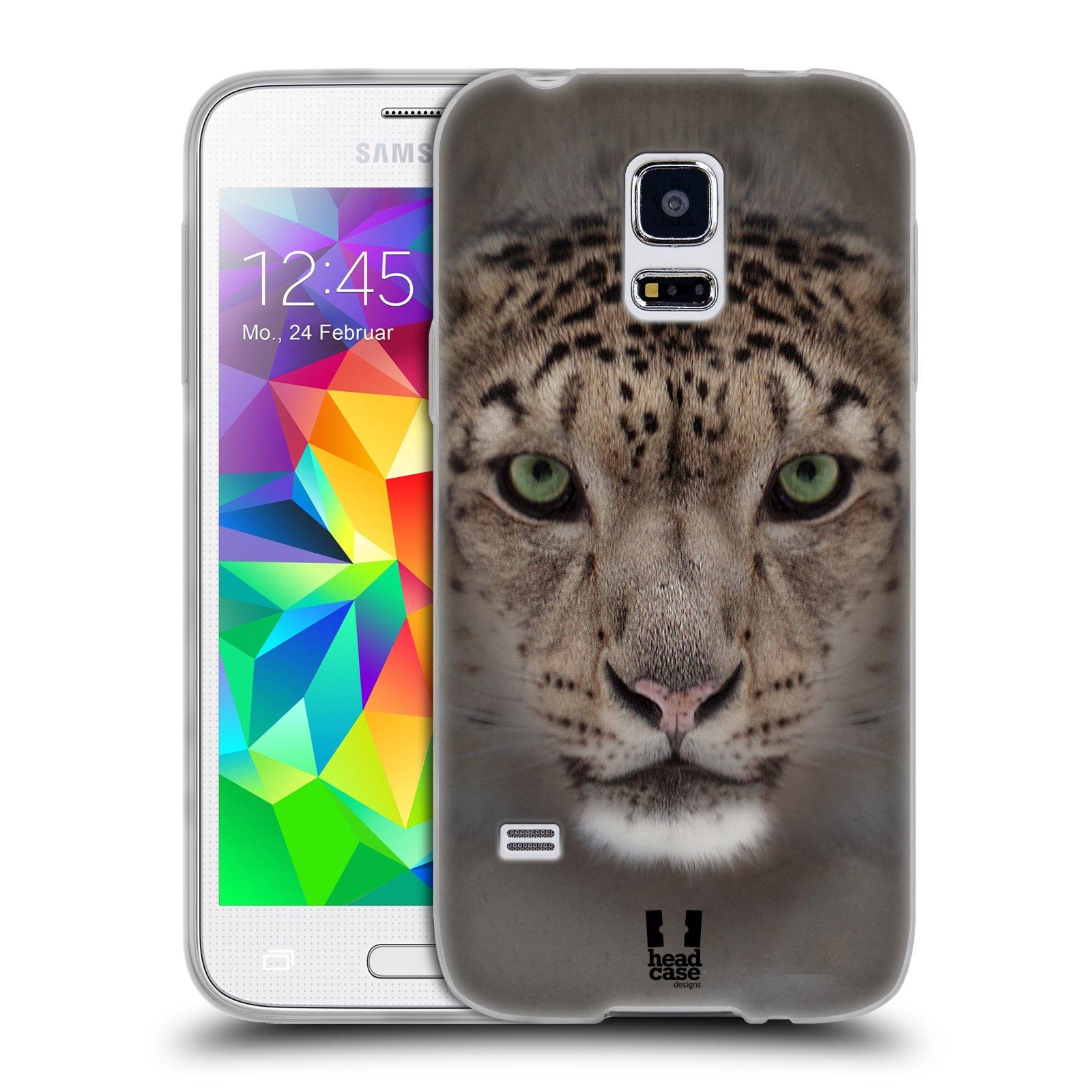 HEAD CASE silikonový obal na mobil Samsung Galaxy S5 MINI vzor Zvířecí tváře 2 sněžný leopard