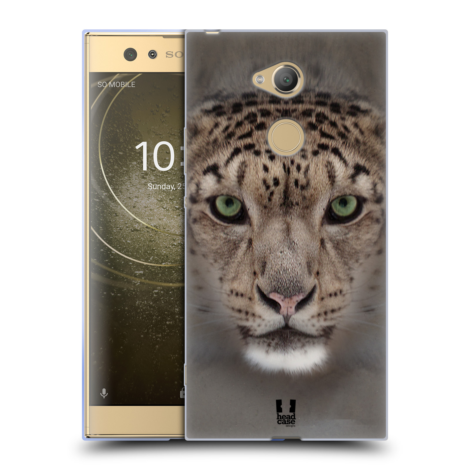 Pouzdro na mobil Sony Xperia XA2 Ultra vzor Zvířecí tváře 2 sněžný leopard