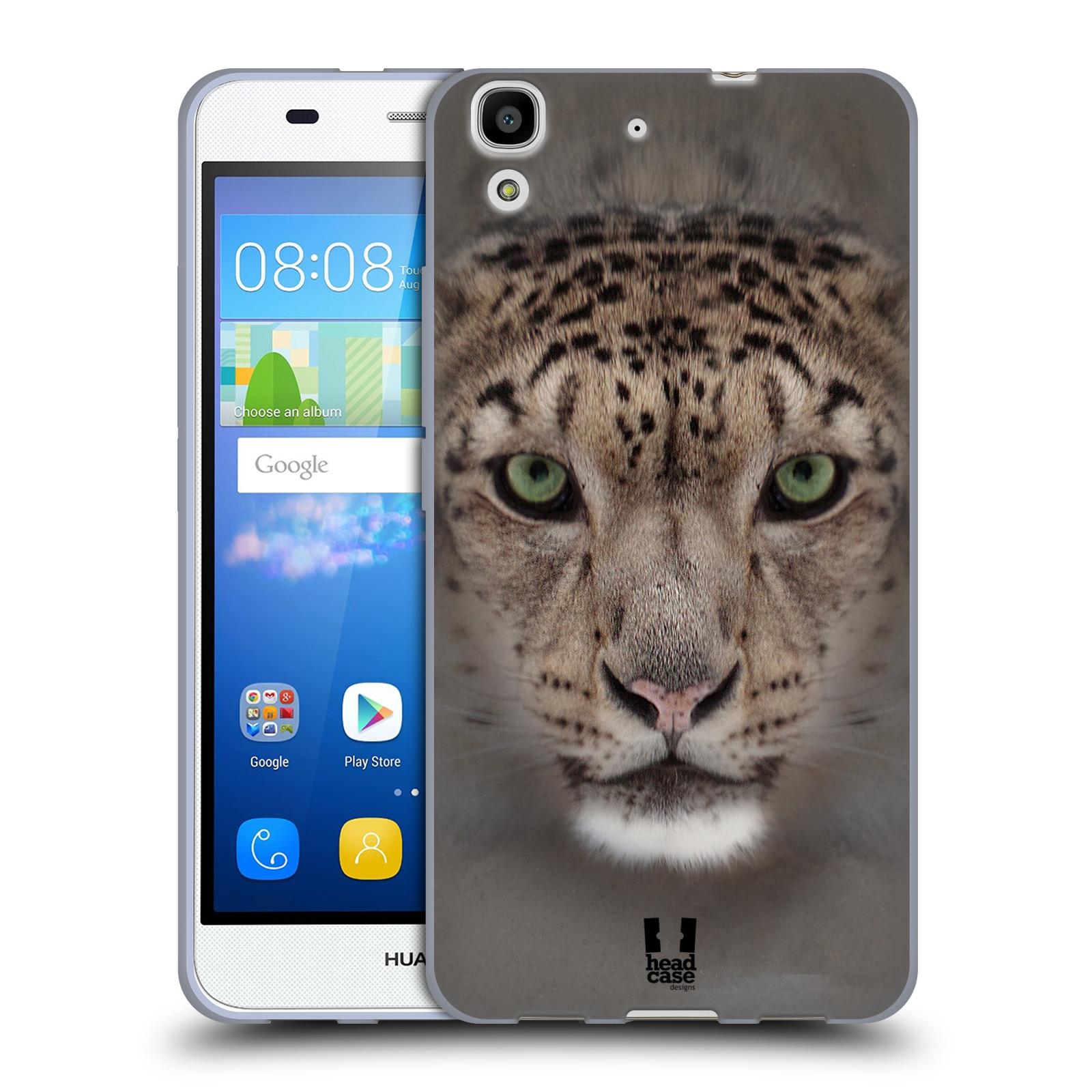 HEAD CASE silikonový obal na mobil HUAWEI Y6 vzor Zvířecí tváře 2 sněžný leopard
