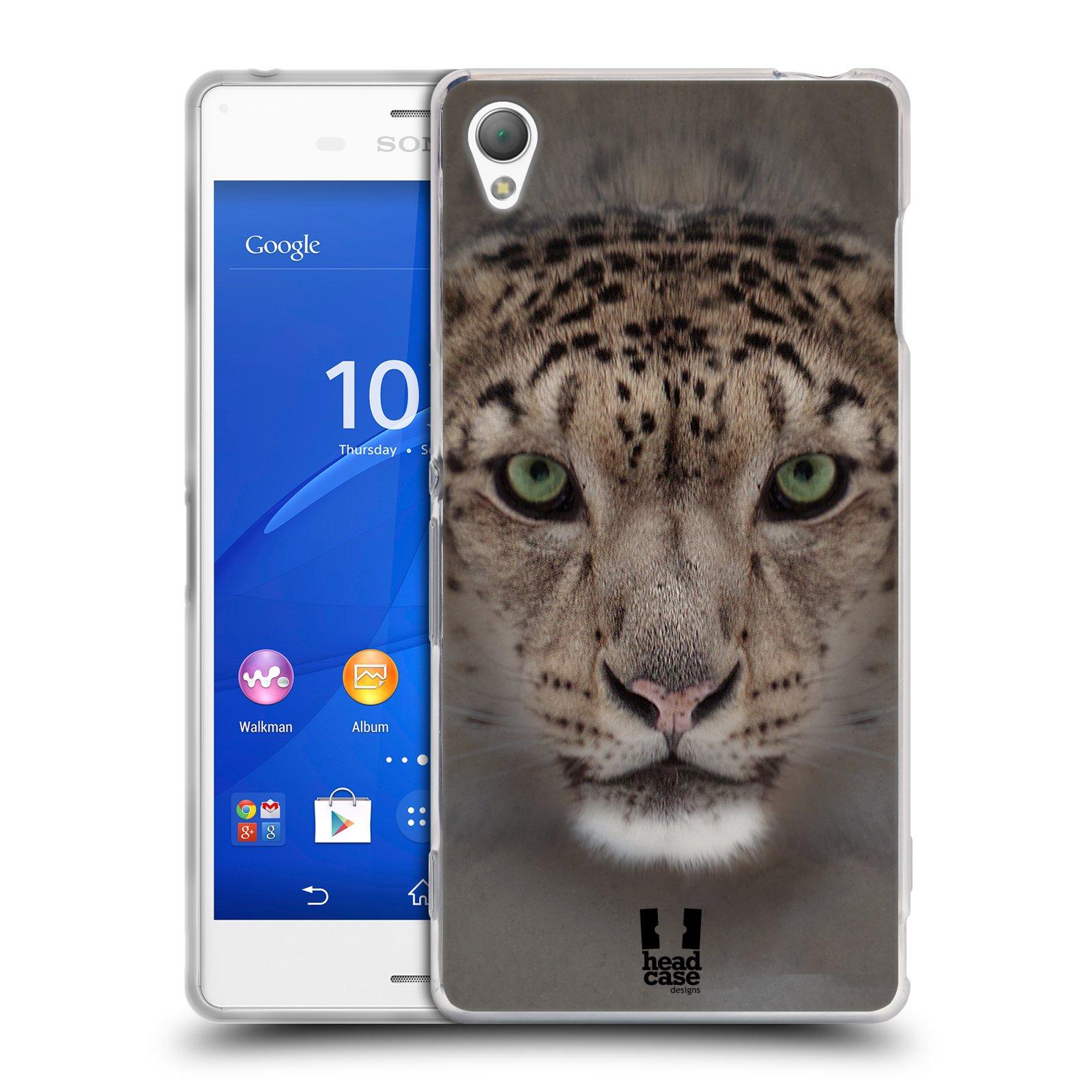 HEAD CASE silikonový obal na mobil Sony Xperia Z3 vzor Zvířecí tváře 2 sněžný leopard
