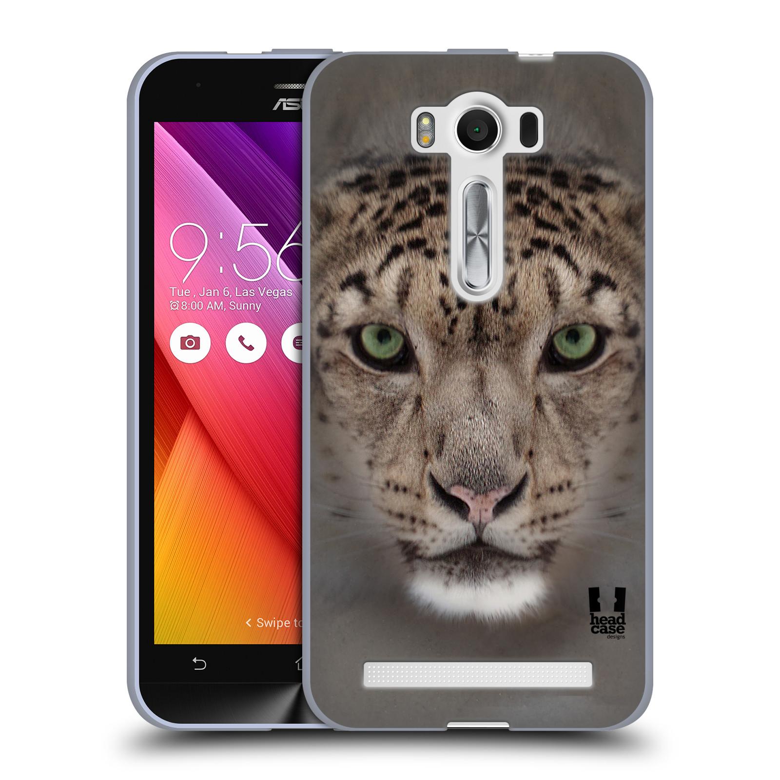 """HEAD CASE silikonový obal na mobil Asus Zenfone 2 LASER (ZE500KL s 5"""" displejem) vzor Zvířecí tváře 2 sněžný leopard"""