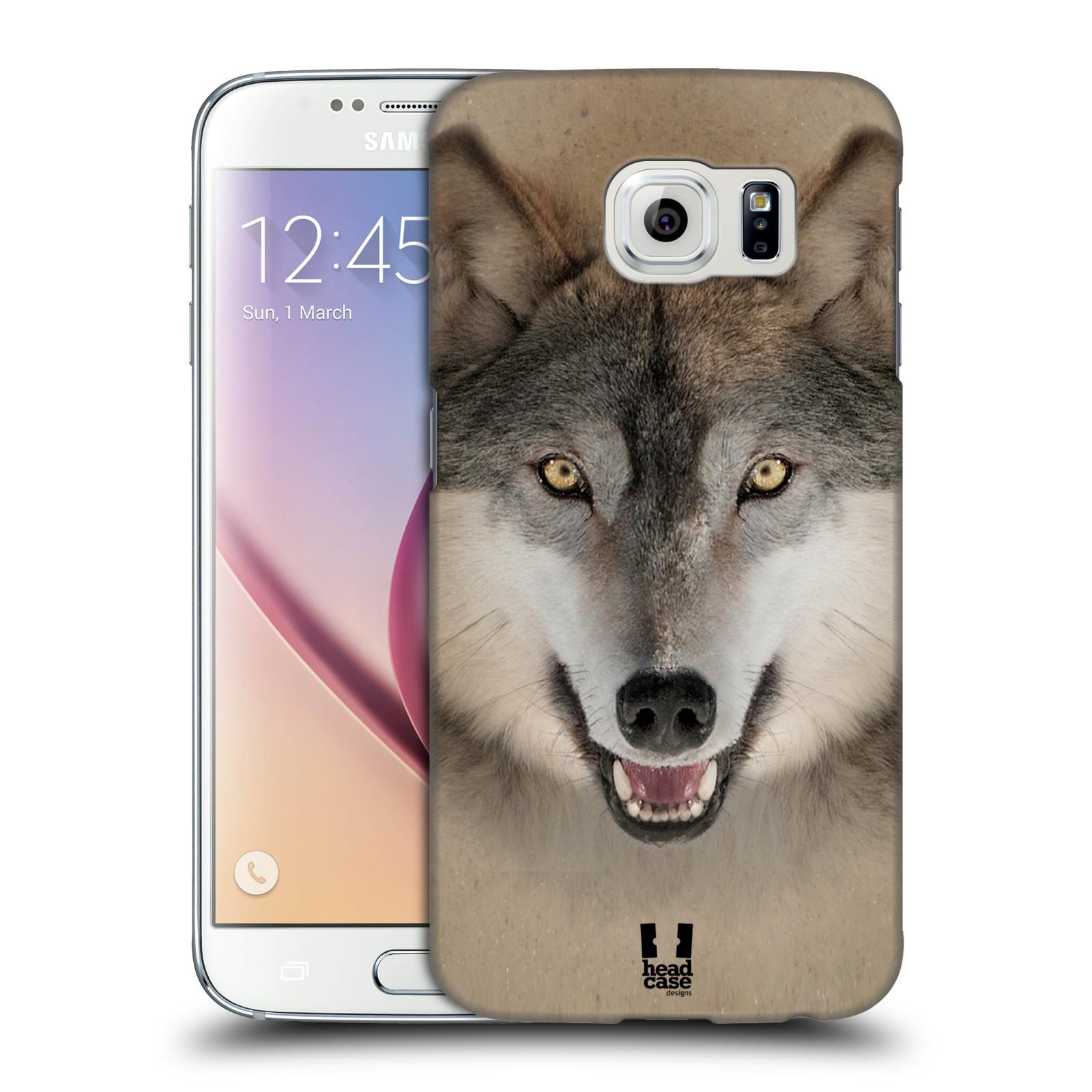 HEAD CASE plastový obal na mobil SAMSUNG Galaxy S6 (G9200, G920F) vzor Zvířecí tváře 2 vlk šedý