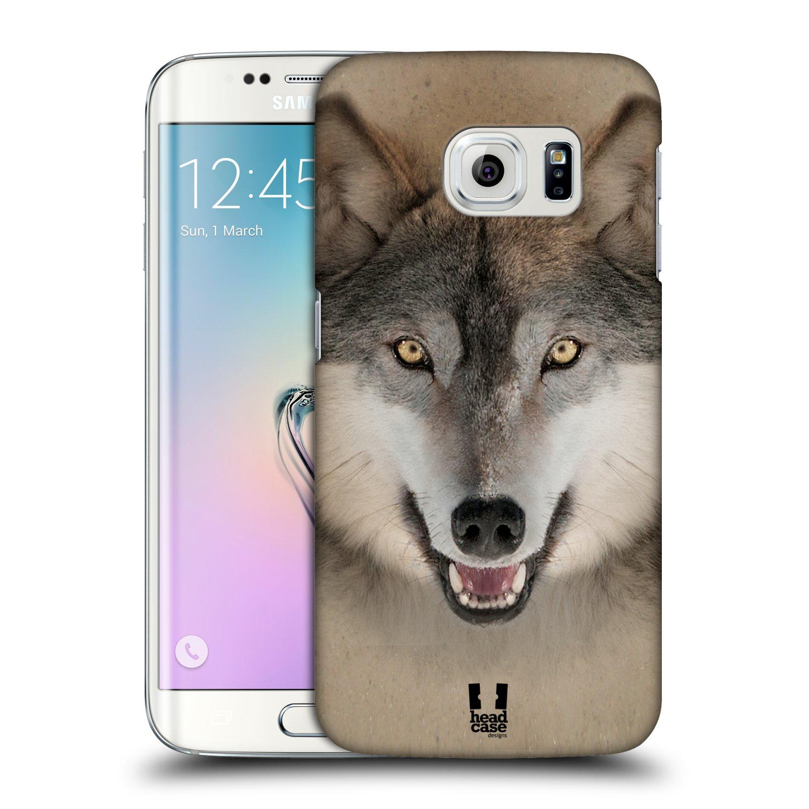 HEAD CASE plastový obal na mobil SAMSUNG Galaxy S6 EDGE (G9250, G925, G925F) vzor Zvířecí tváře 2 vlk šedý