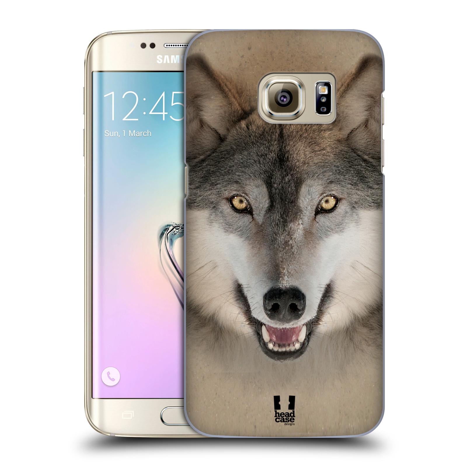 HEAD CASE plastový obal na mobil SAMSUNG GALAXY S7 EDGE vzor Zvířecí tváře 2 vlk šedý