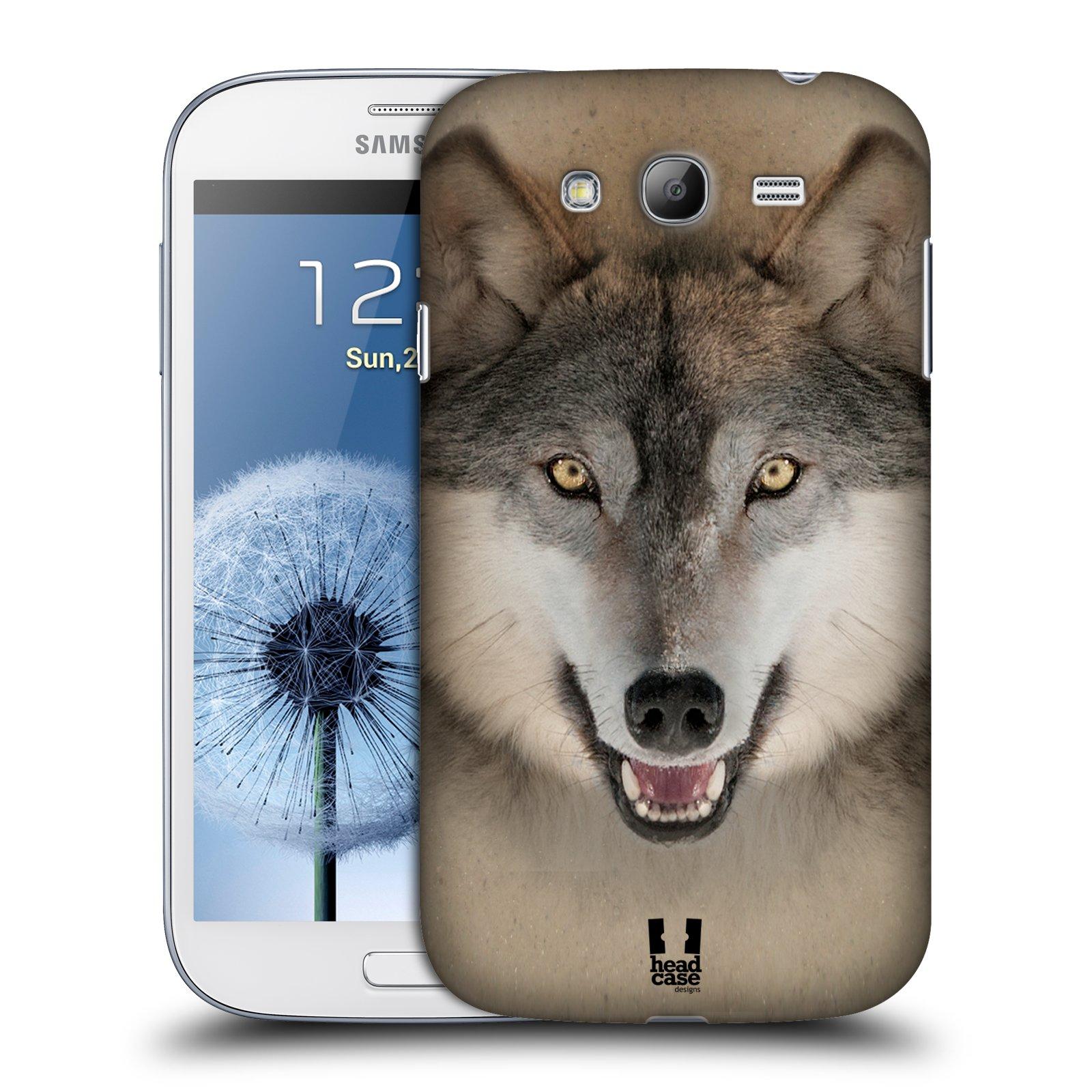 HEAD CASE plastový obal na mobil SAMSUNG GALAXY Grand i9080 vzor Zvířecí tváře 2 vlk šedý