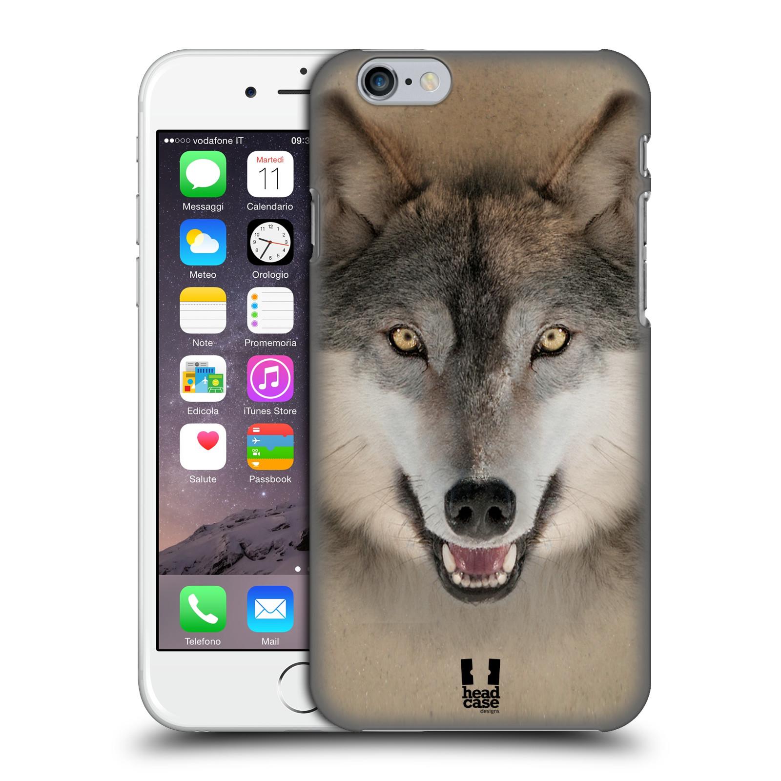 Plastové pouzdro pro mobil Apple Iphone 6/6S vzor Zvířecí tváře 2 vlk šedý
