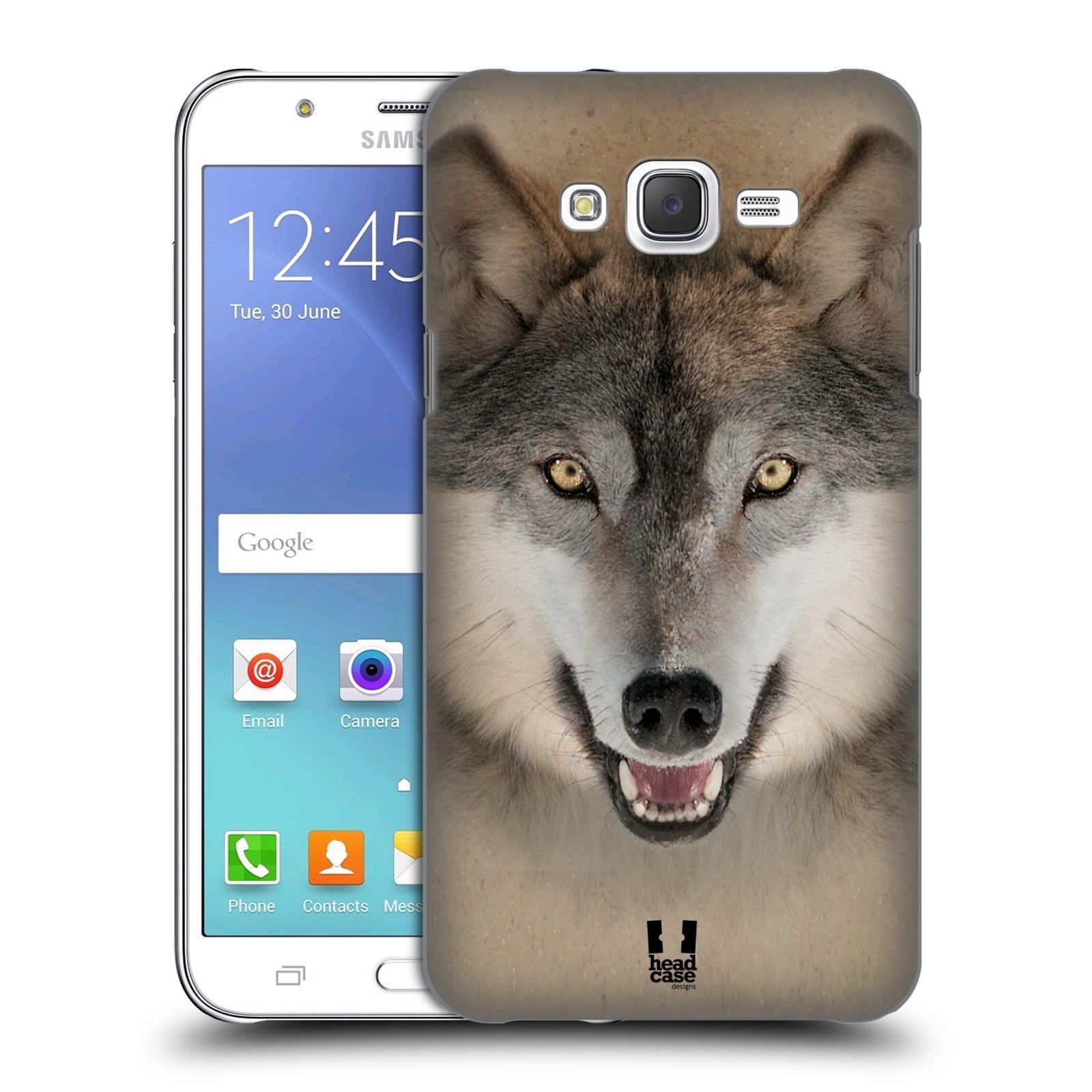 HEAD CASE plastový obal na mobil SAMSUNG Galaxy J7, J700 vzor Zvířecí tváře 2 vlk šedý