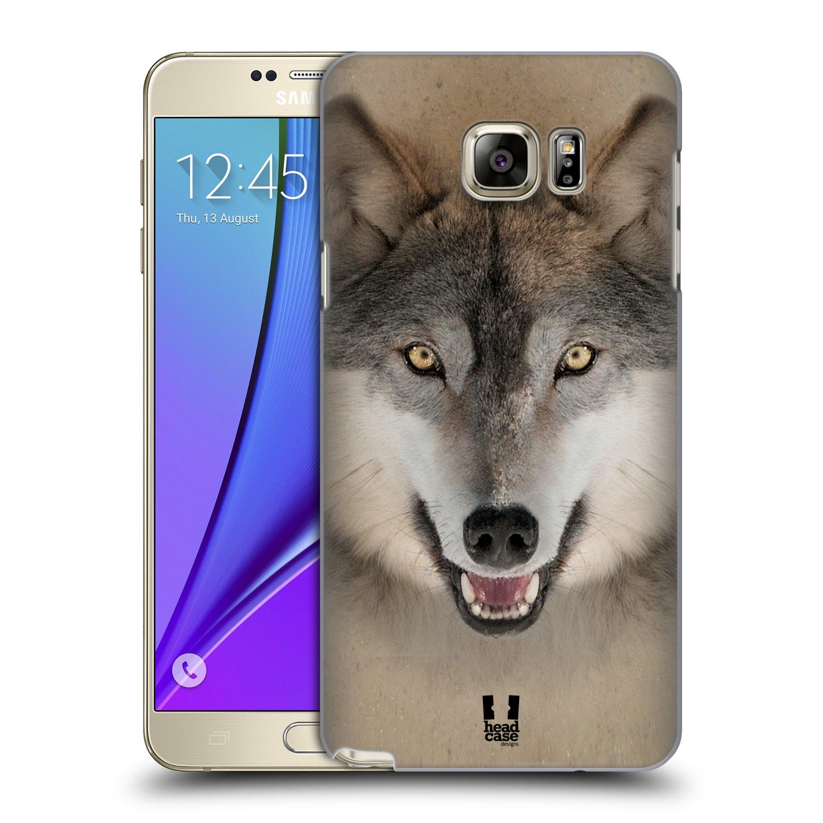 HEAD CASE plastový obal na mobil SAMSUNG Galaxy Note 5 (N920) vzor Zvířecí tváře 2 vlk šedý