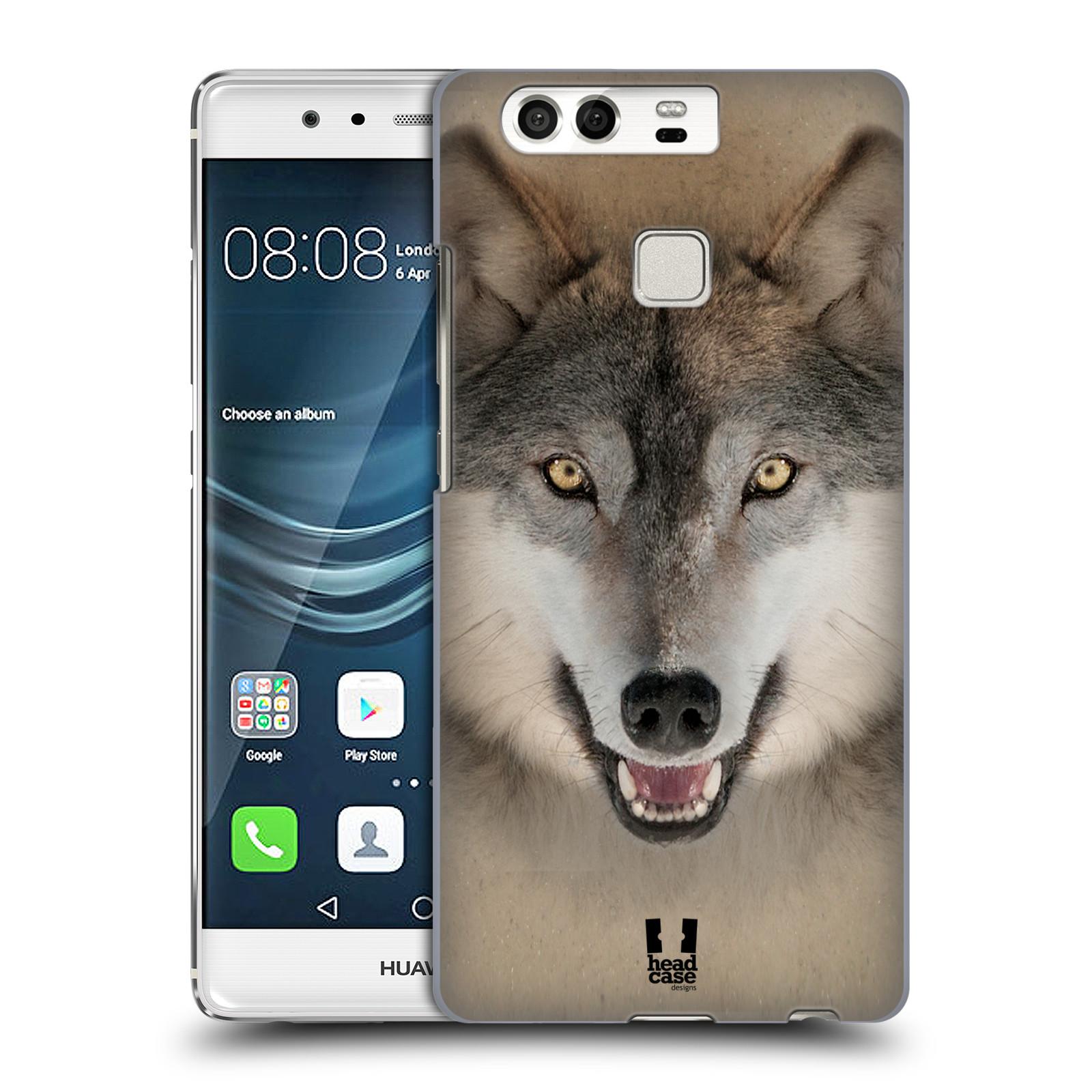 HEAD CASE plastový obal na mobil Huawei P9 / P9 DUAL SIM vzor Zvířecí tváře 2 vlk šedý