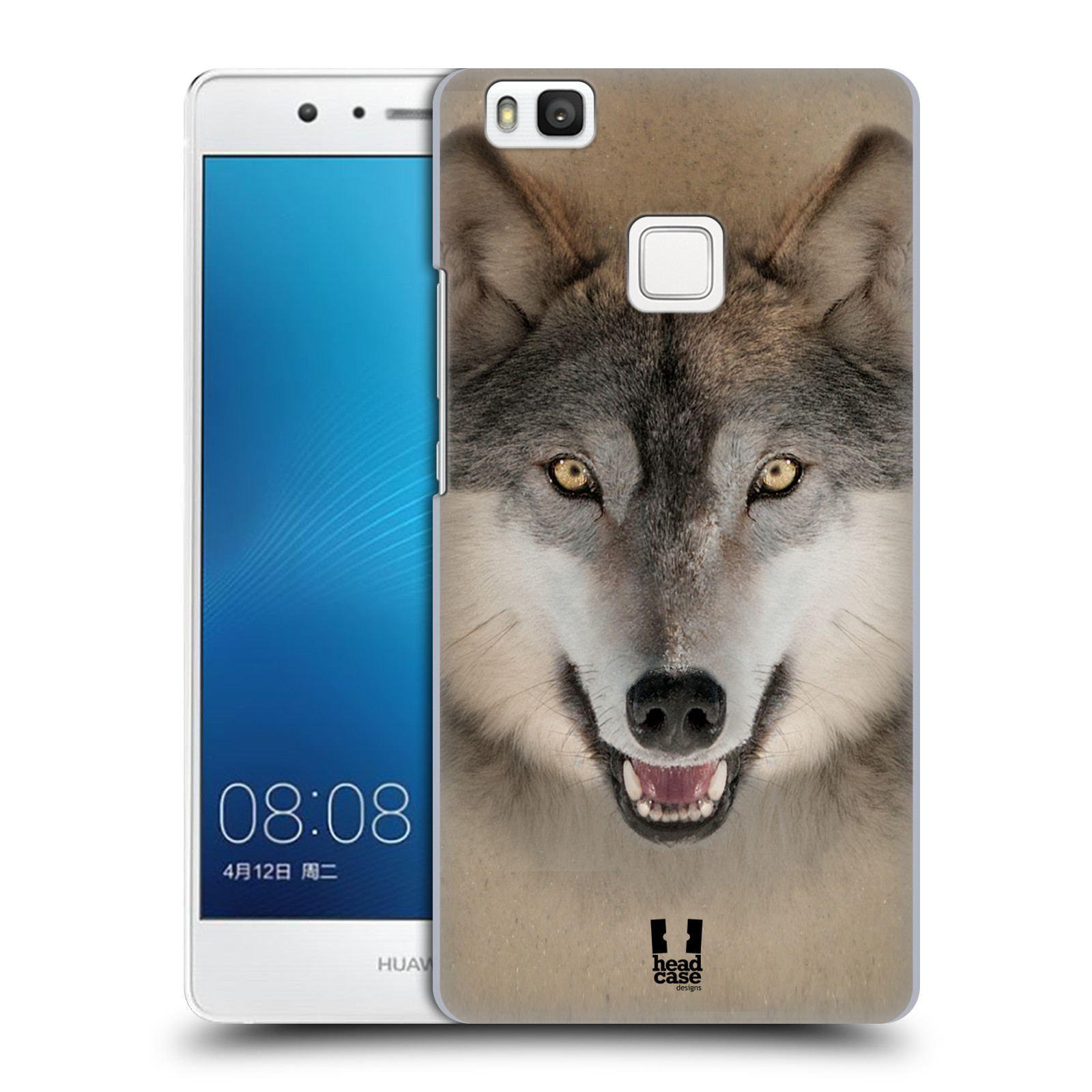 HEAD CASE plastový obal na mobil Huawei P9 LITE / P9 LITE DUAL SIM vzor Zvířecí tváře 2 vlk šedý