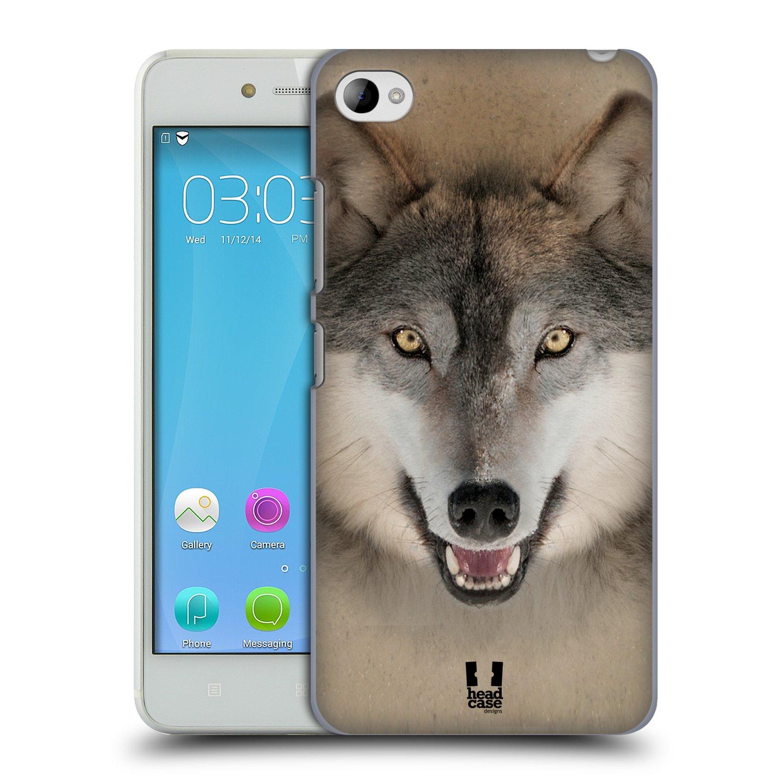 HEAD CASE pevný plastový obal na mobil LENOVO S90 vzor Zvířecí tváře 2 vlk šedý