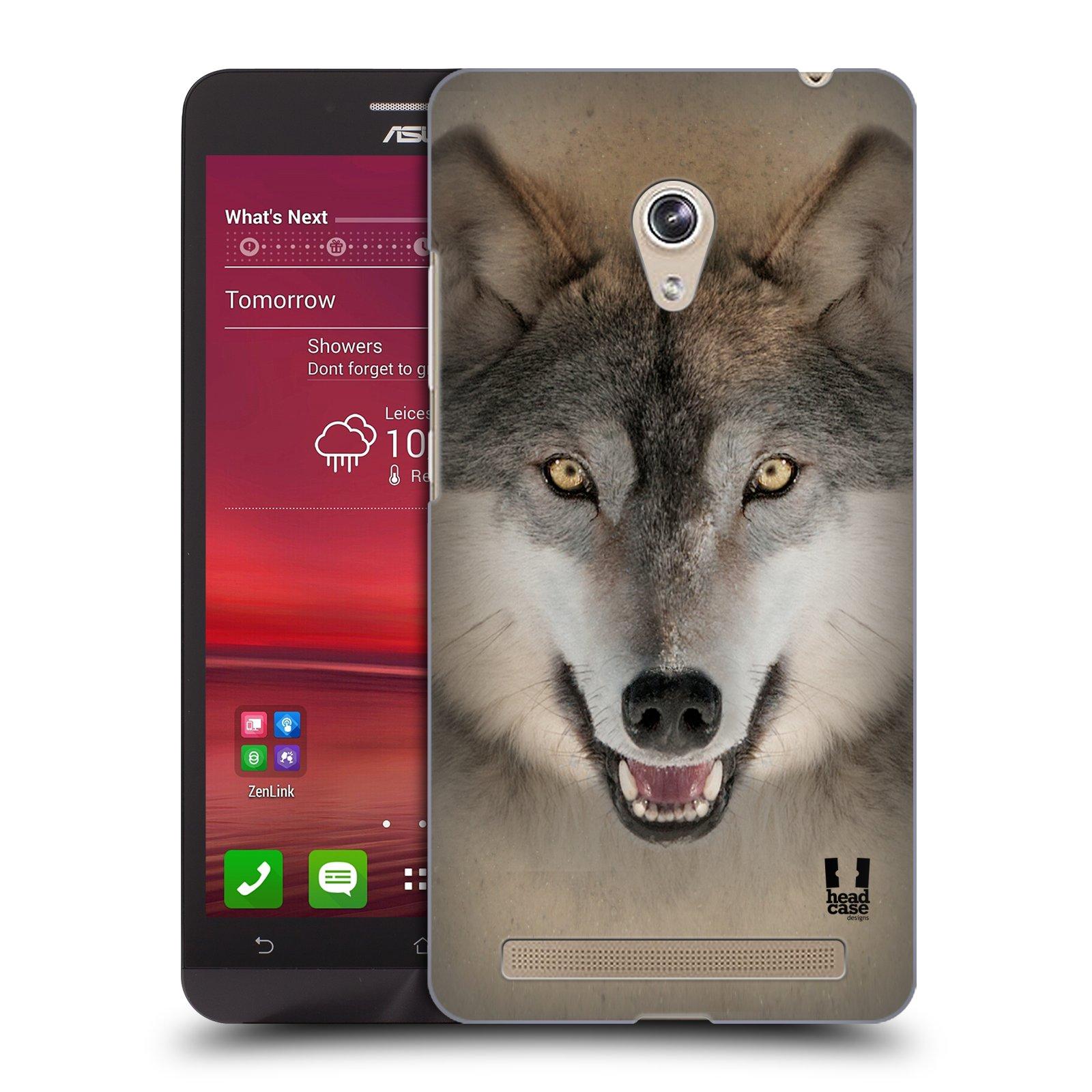 HEAD CASE plastový obal na mobil Asus Zenfone 6 vzor Zvířecí tváře 2 vlk šedý
