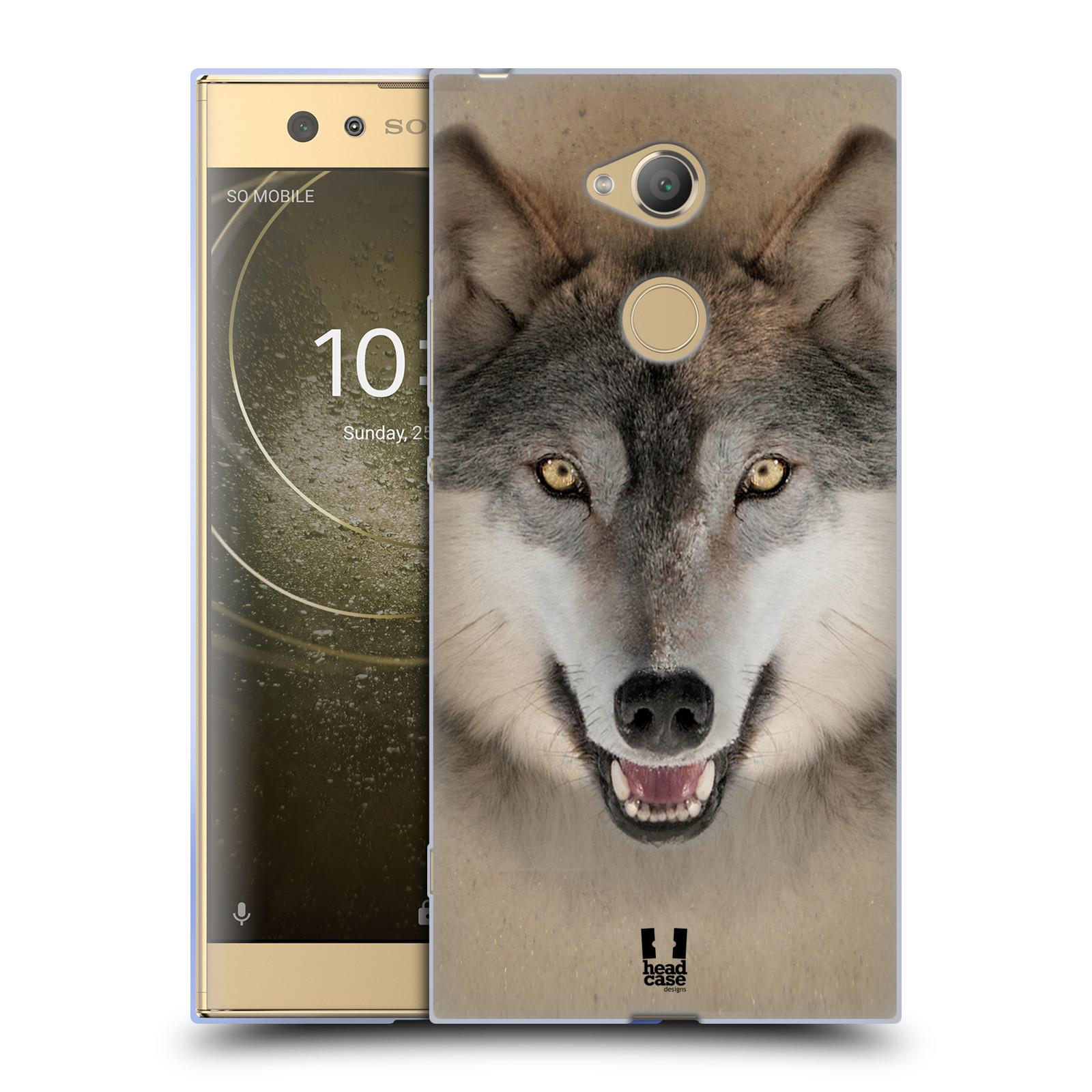 Pouzdro na mobil Sony Xperia XA2 Ultra vzor Zvířecí tváře 2 vlk šedý