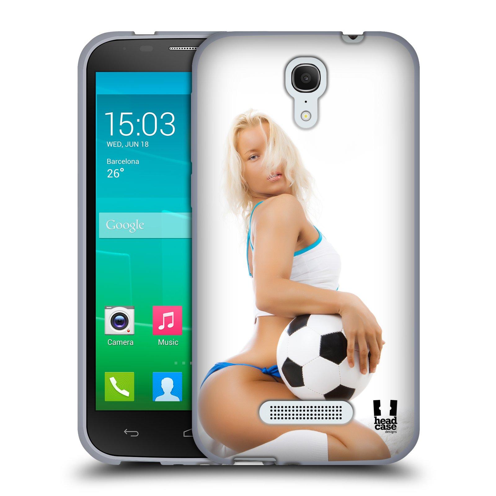 HEAD CASE silikonový obal na mobil Alcatel POP S7 vzor Fotbalové modelky BLONDÝNKA