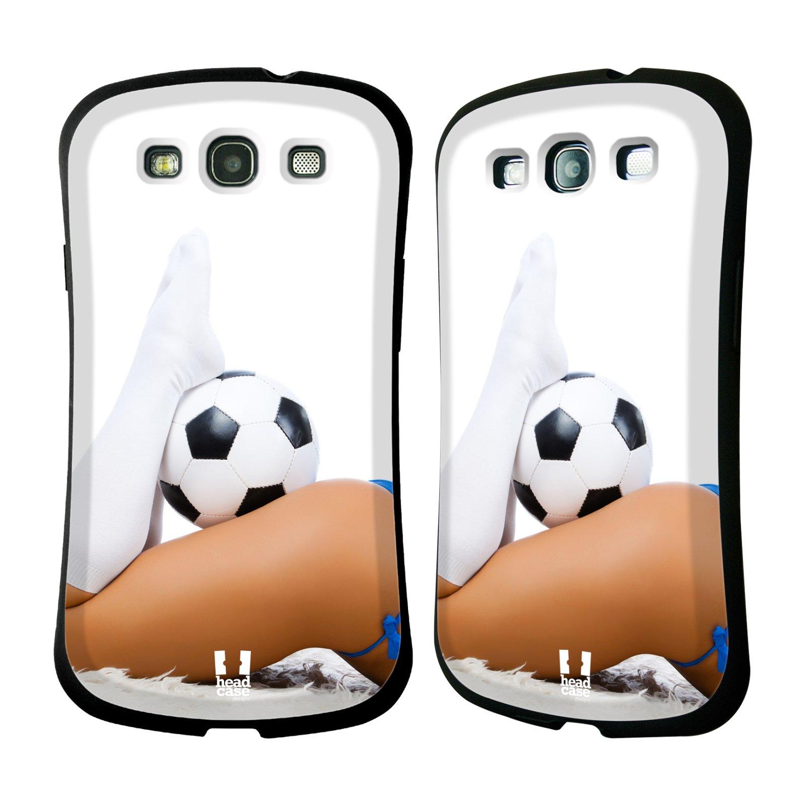 HEAD CASE silikon/plast odolný obal na mobil Samsung Galaxy S3 vzor Fotbalové modelky PODKOLENKY