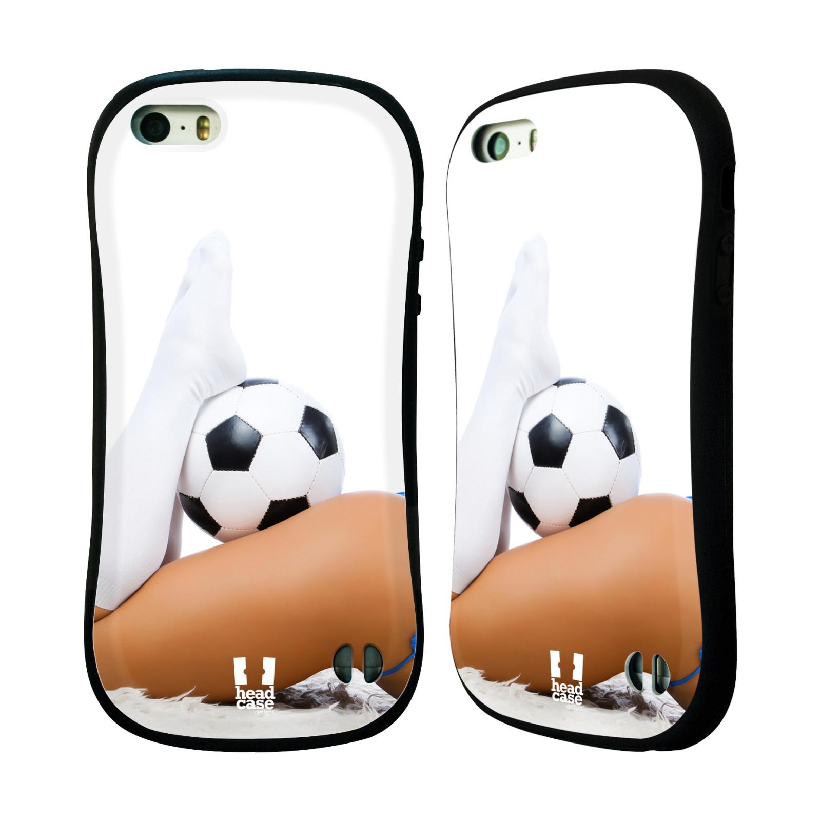 HEAD CASE silikon/plast odolný obal na mobil Apple Iphone 5/5S vzor Fotbalové modelky PODKOLENKY