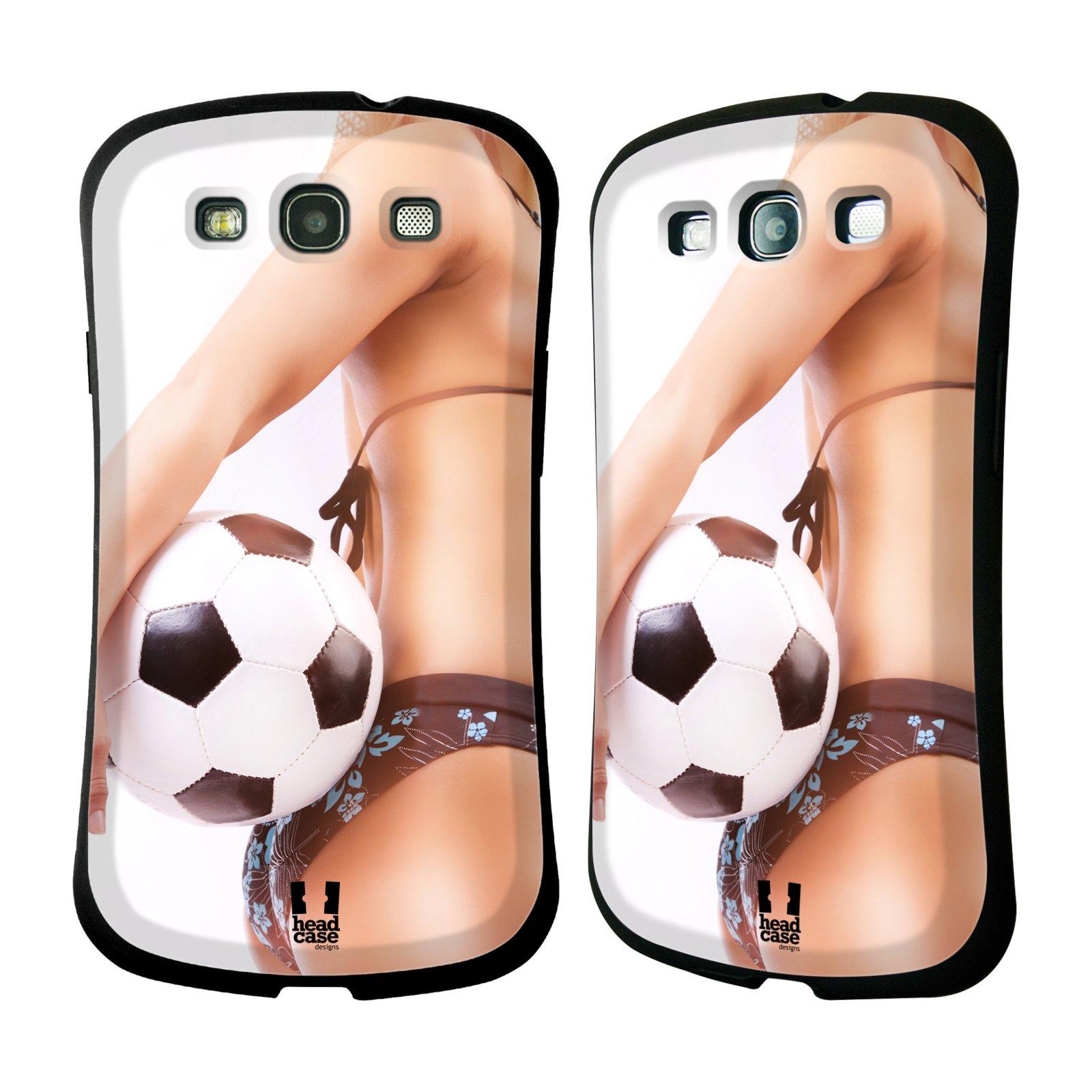 HEAD CASE silikon/plast odolný obal na mobil Samsung Galaxy S3 vzor Fotbalové modelky KOPACÍ MÍČ