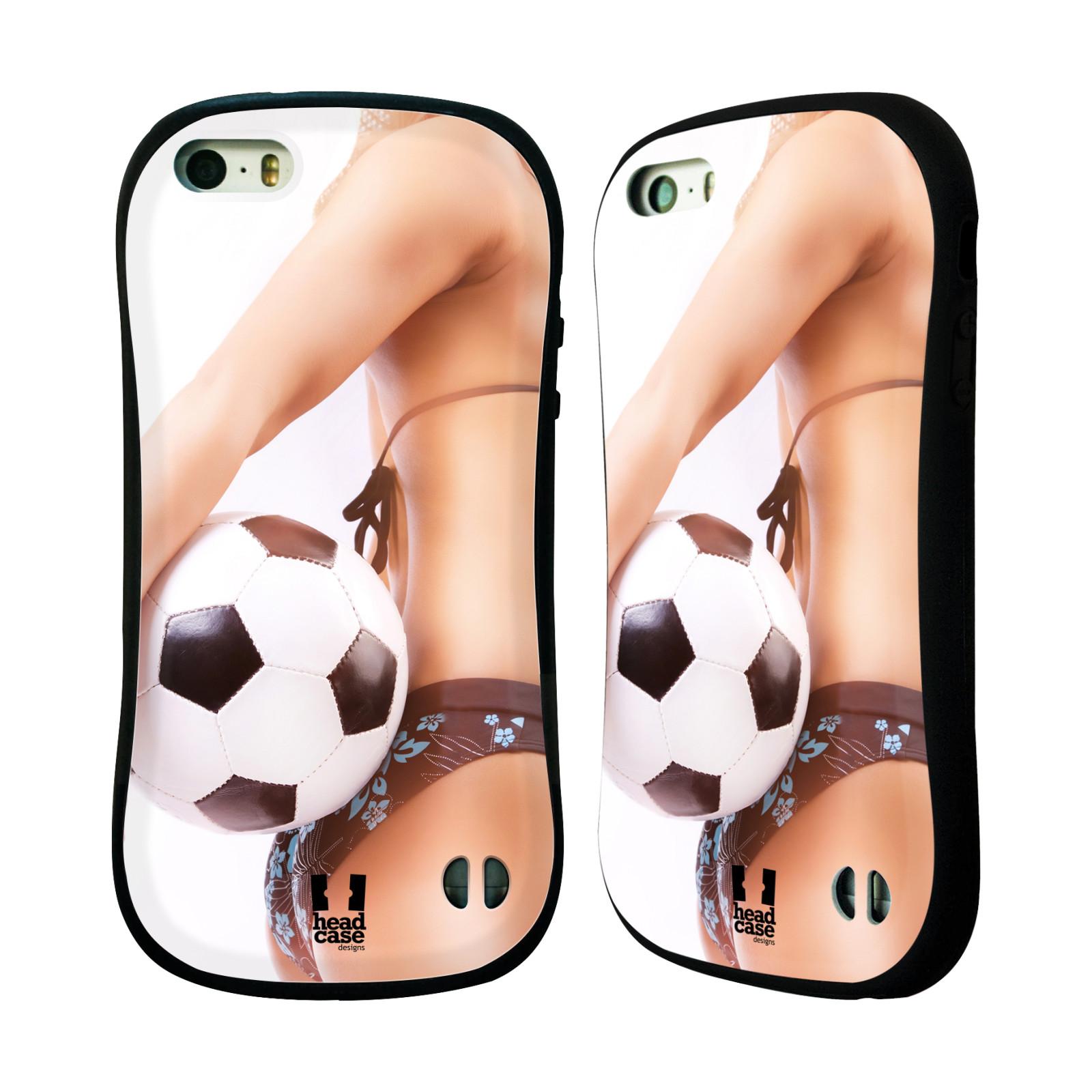 HEAD CASE silikon/plast odolný obal na mobil Apple Iphone 5/5S vzor Fotbalové modelky KOPACÍ MÍČ