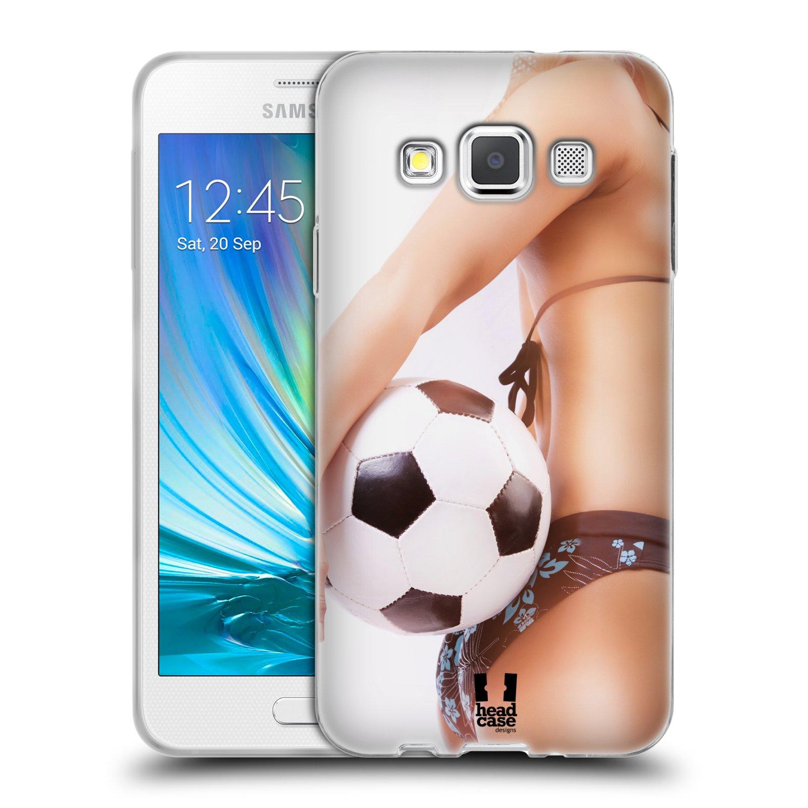 HEAD CASE silikonový obal na mobil Samsung Galaxy A3 vzor Fotbalové modelky KOPACÍ MÍČ