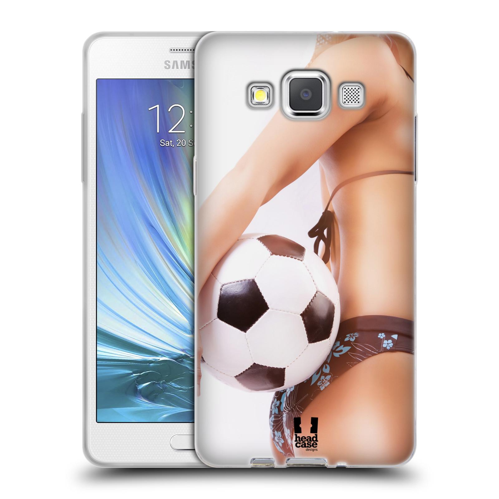 HEAD CASE silikonový obal na mobil Samsung Galaxy A5 vzor Fotbalové modelky KOPACÍ MÍČ