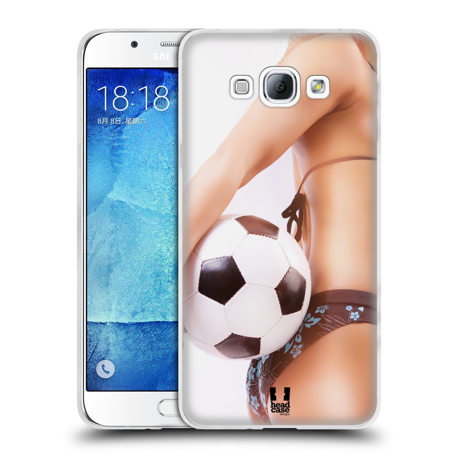 HEAD CASE silikonový obal na mobil Samsung Galaxy A8 vzor Fotbalové modelky KOPACÍ MÍČ