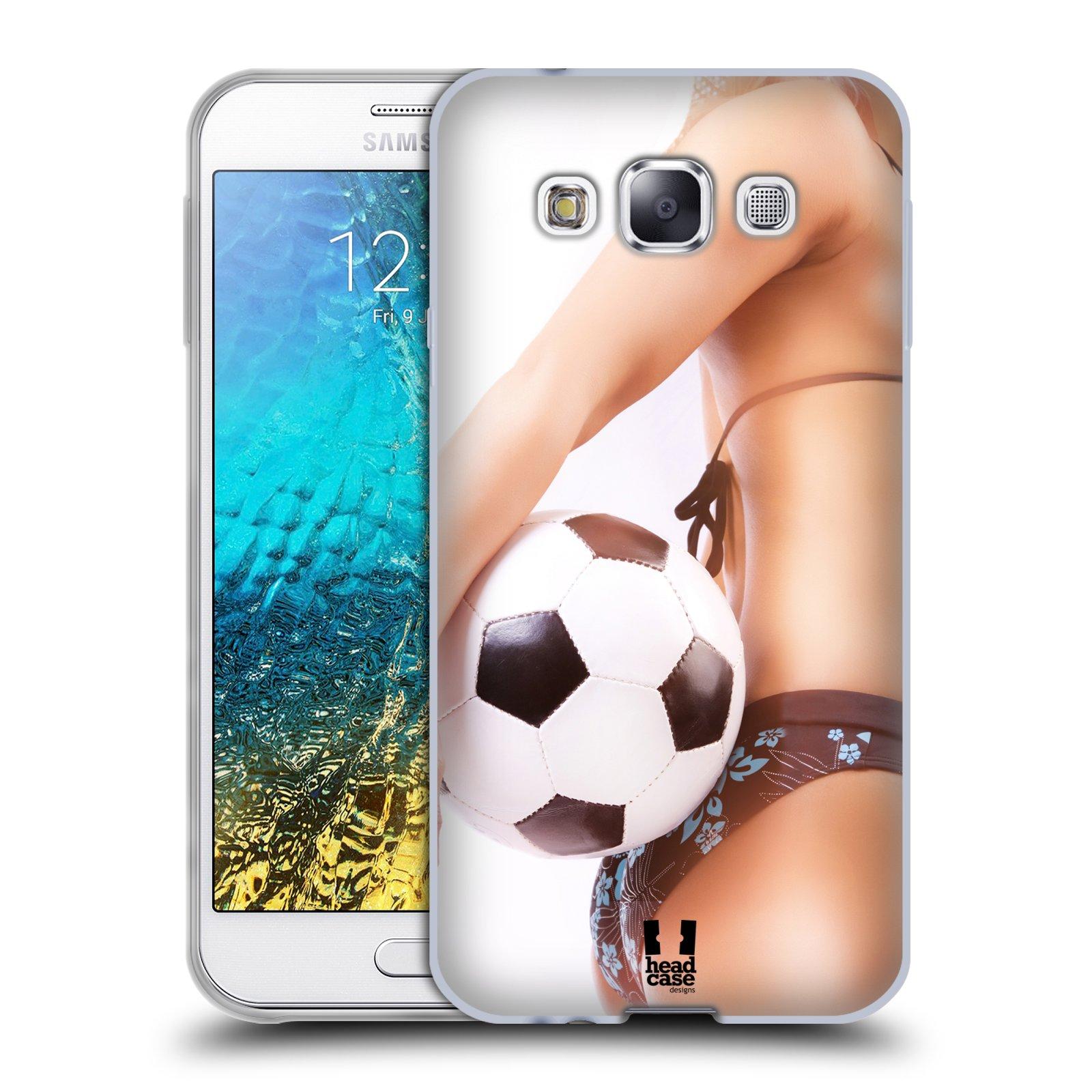 HEAD CASE silikonový obal na mobil Samsung Galaxy E5 vzor Fotbalové modelky KOPACÍ MÍČ