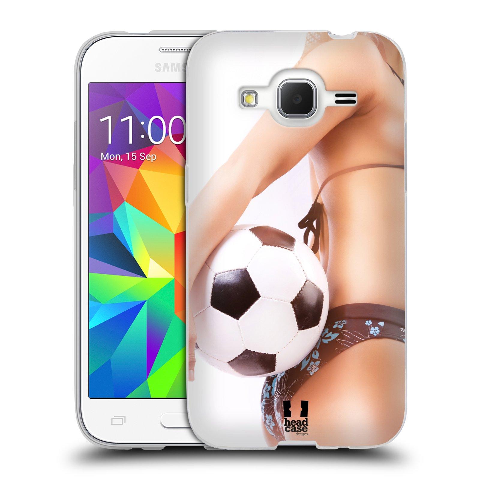 HEAD CASE silikonový obal na mobil Samsung Galaxy Core Prime (G360) vzor Fotbalové modelky KOPACÍ MÍČ