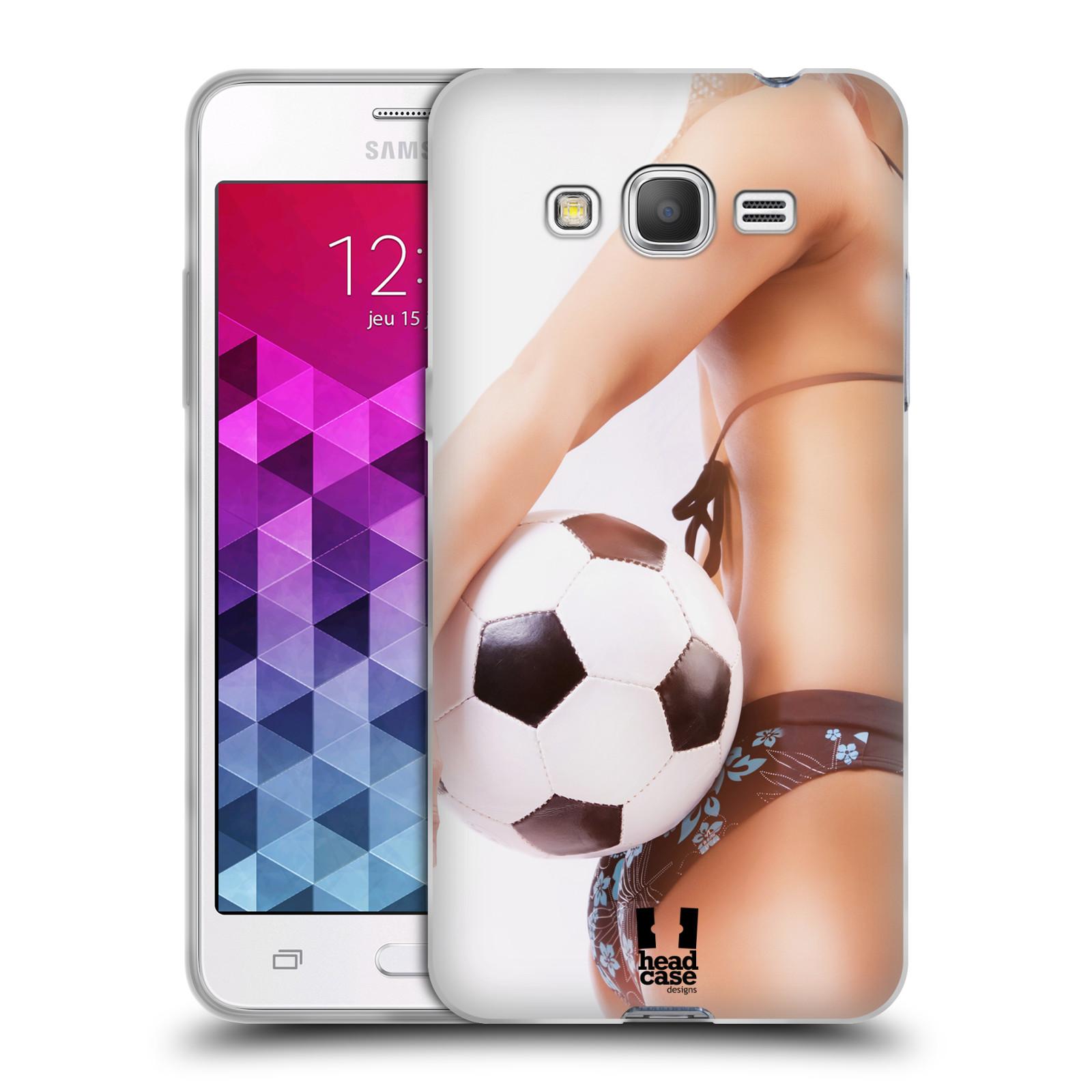 HEAD CASE silikonový obal na mobil Samsung Galaxy GRAND PRIME vzor Fotbalové modelky KOPACÍ MÍČ