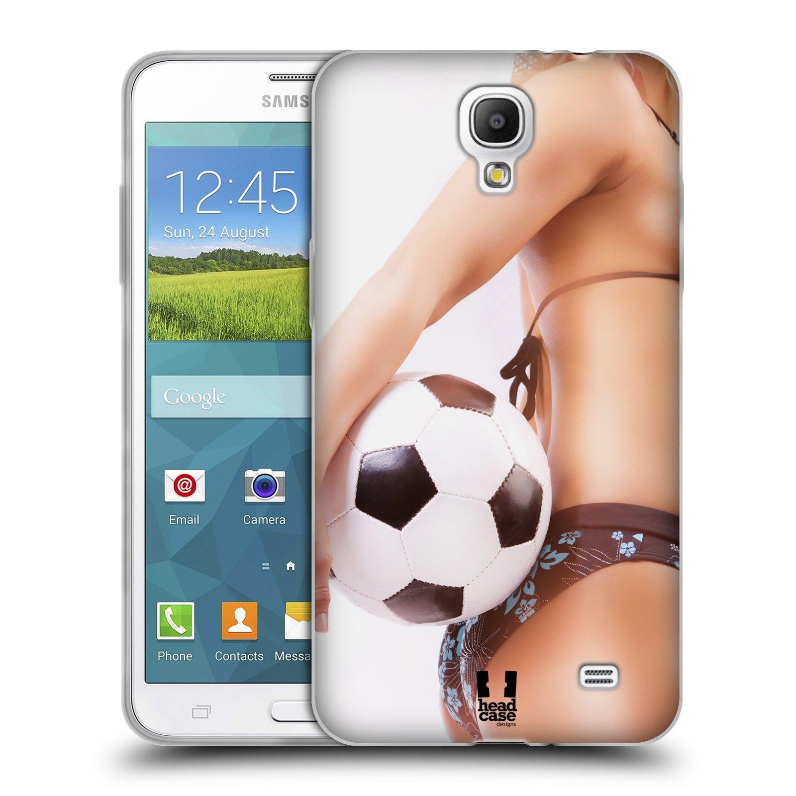 HEAD CASE silikonový obal na mobil Samsung Galaxy Mega 2 vzor Fotbalové modelky KOPACÍ MÍČ