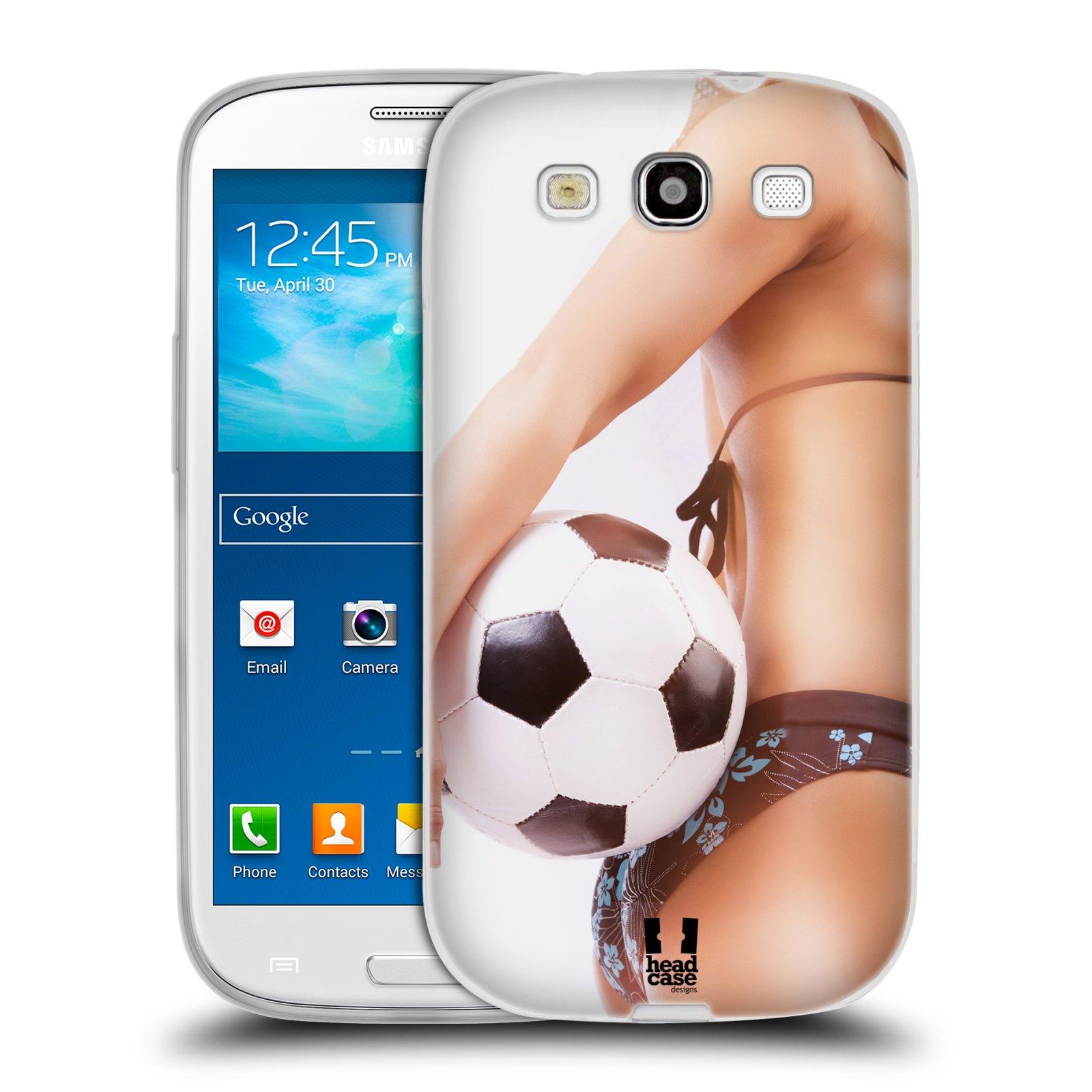 HEAD CASE silikonový obal na mobil Samsung Galaxy S3 i9300 vzor Fotbalové modelky KOPACÍ MÍČ
