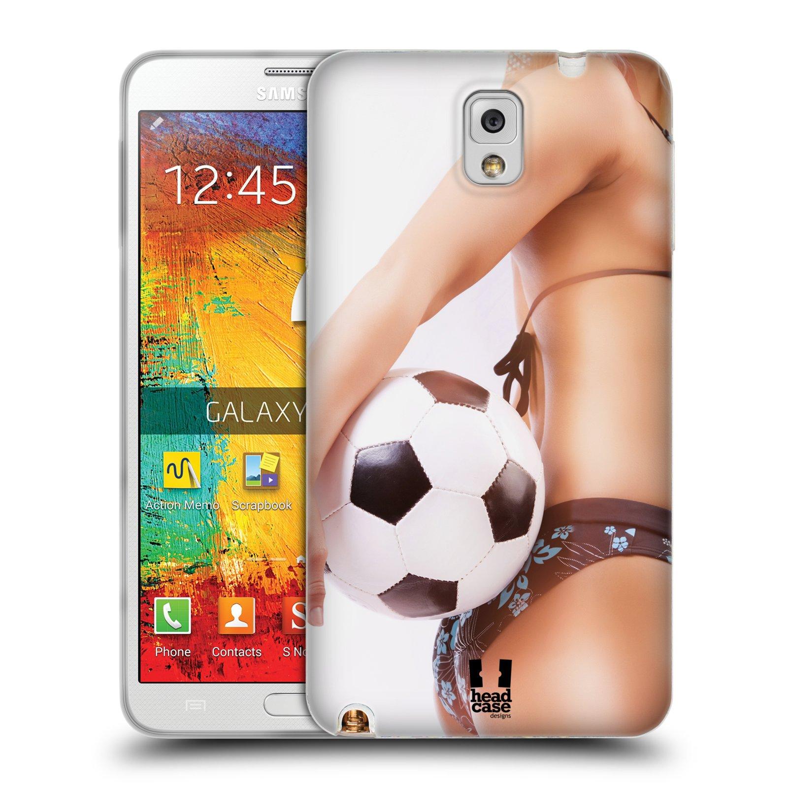 HEAD CASE silikonový obal na mobil Samsung Galaxy Note 3 (N9005) vzor Fotbalové modelky KOPACÍ MÍČ
