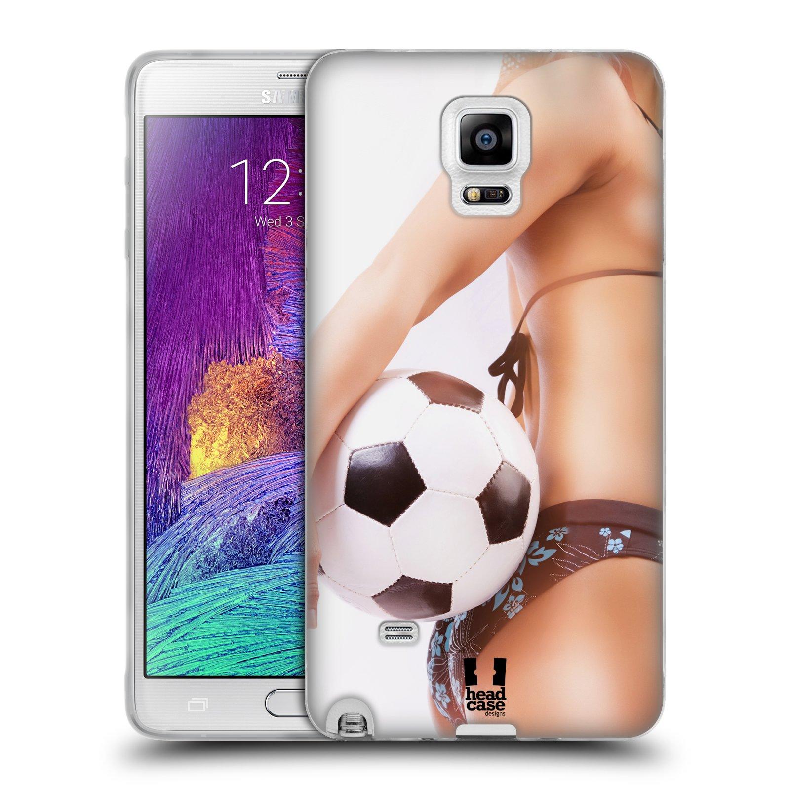 HEAD CASE silikonový obal na mobil Samsung Galaxy Note 4 (N910) vzor Fotbalové modelky KOPACÍ MÍČ