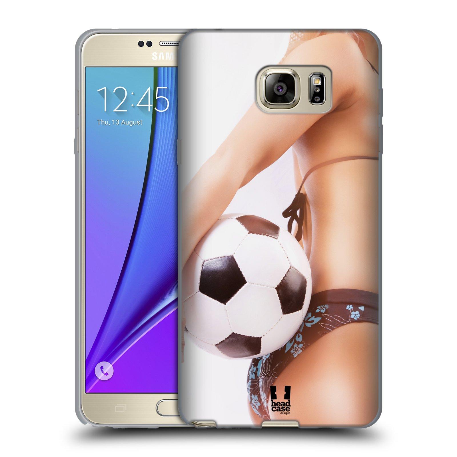 HEAD CASE silikonový obal na mobil Samsung Galaxy Note 5 (N920) vzor Fotbalové modelky KOPACÍ MÍČ