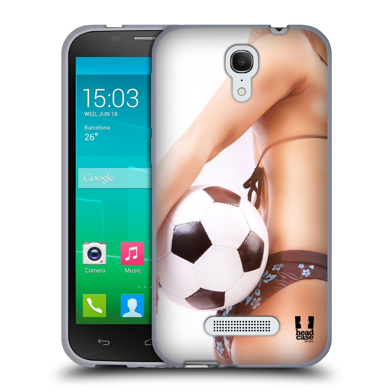 HEAD CASE silikonový obal na mobil Alcatel POP S7 vzor Fotbalové modelky KOPACÍ MÍČ