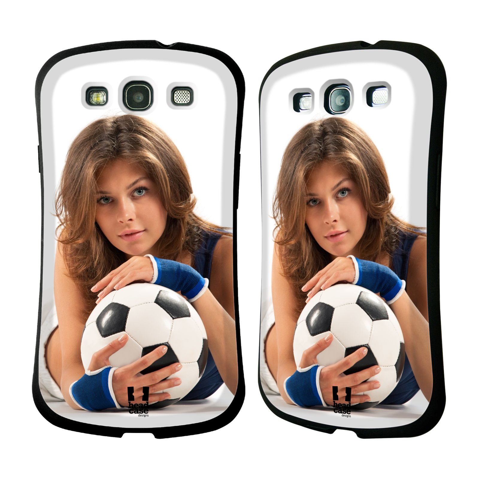 HEAD CASE silikon/plast odolný obal na mobil Samsung Galaxy S3 vzor Fotbalové modelky POHLED