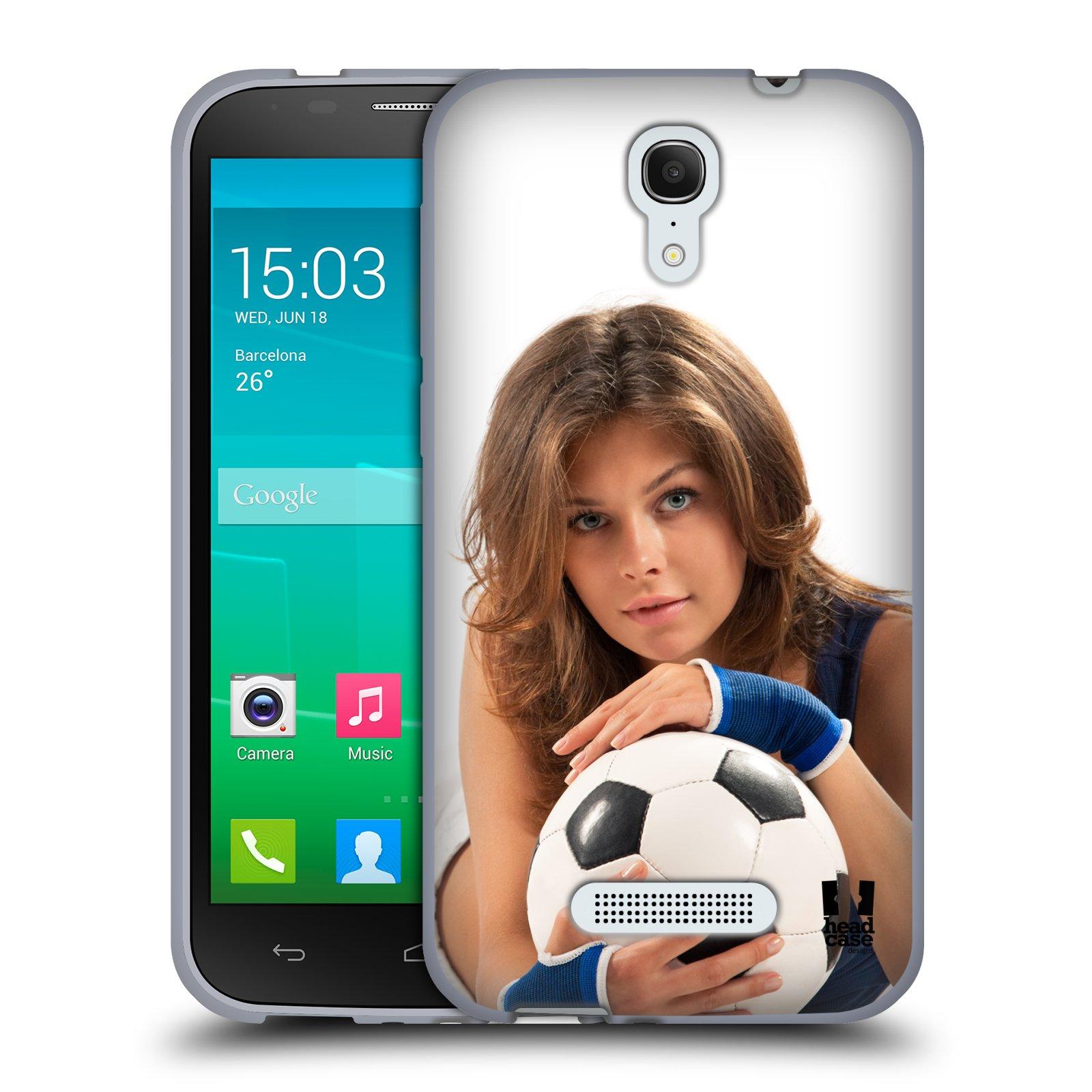 HEAD CASE silikonový obal na mobil Alcatel POP S7 vzor Fotbalové modelky POHLED