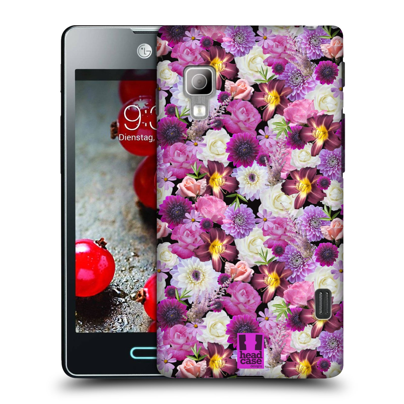 Head case designs flowers case cover for lg optimus l5 ii - Lg fridge with flower design ...