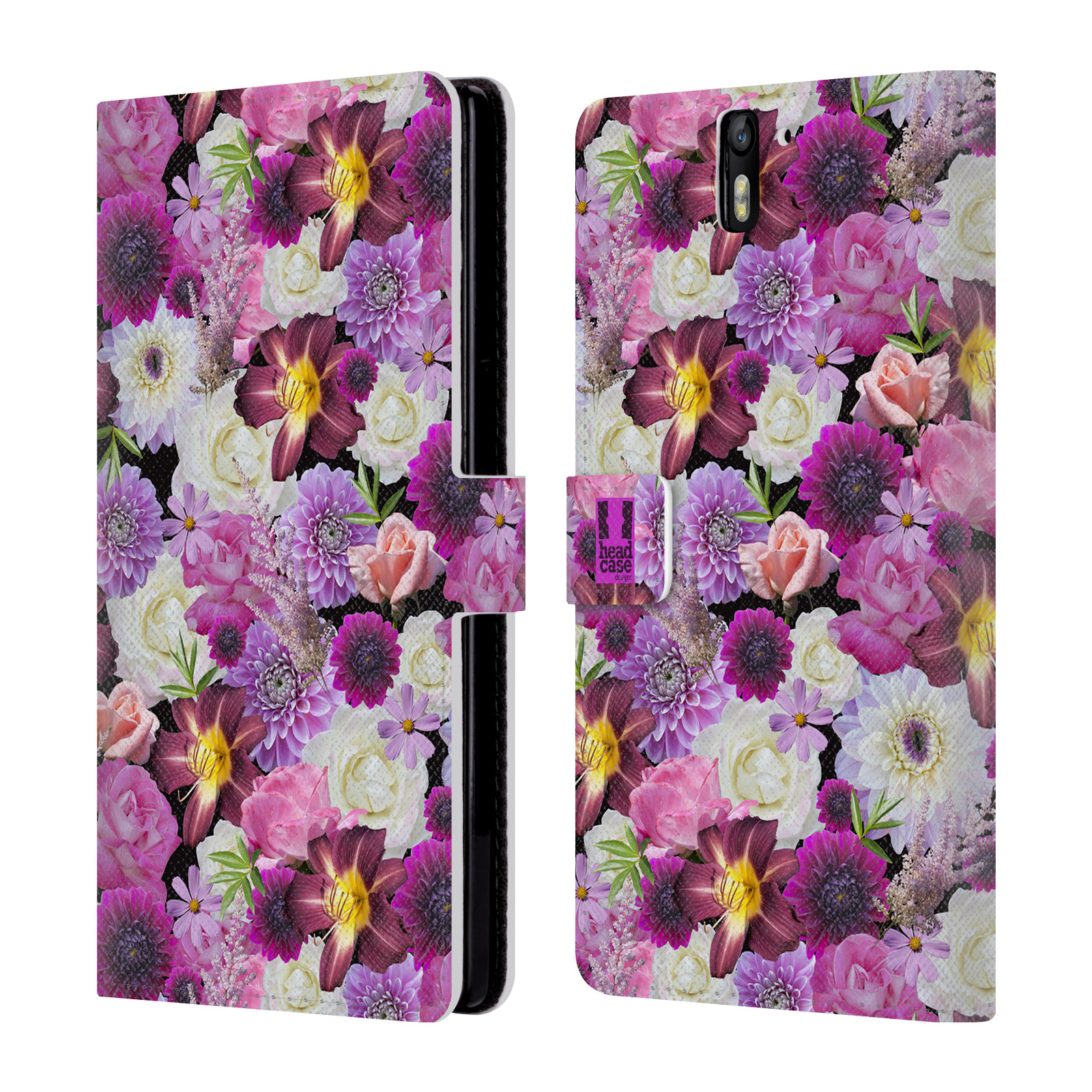 Book Cover Design With Flowers : Head case designs flowers leather book wallet cover