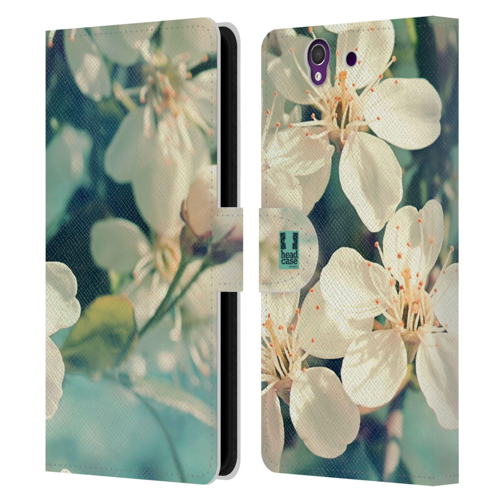 HEAD CASE Flipové pouzdro pro mobil SONY XPERIA Z (C6603) květy foto rozkvetlá třešeň