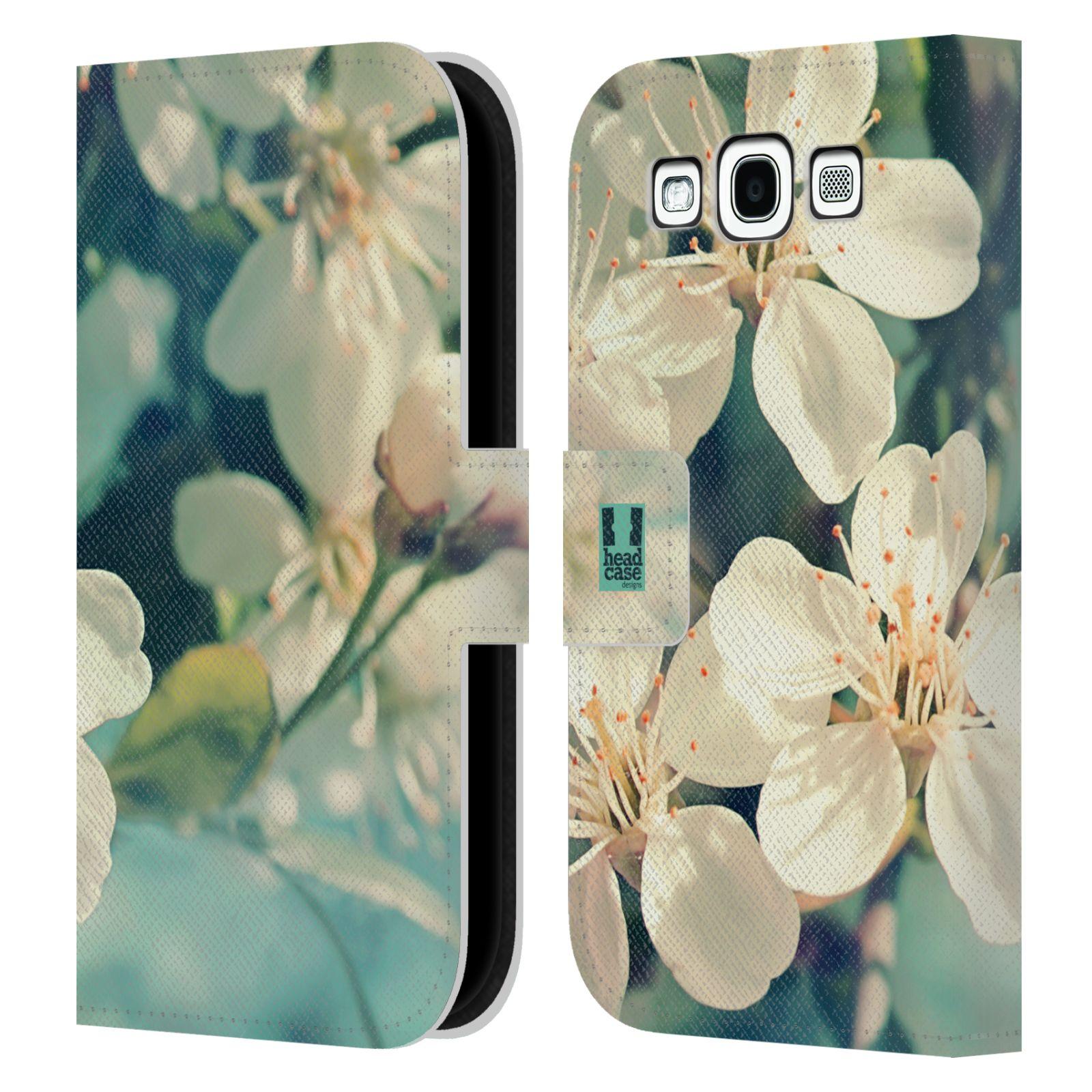 HEAD CASE Flipové pouzdro pro mobil Samsung Galaxy S3 květy foto rozkvetlá třešeň