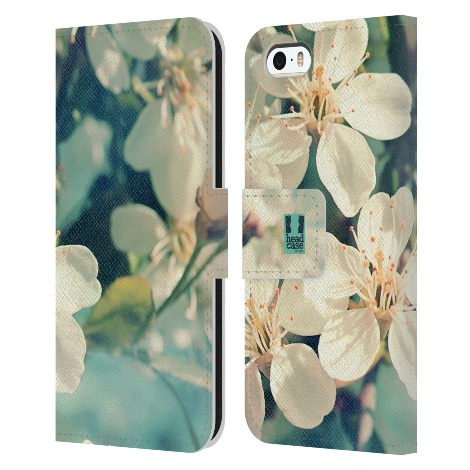 HEAD CASE Flipové pouzdro pro mobil Apple Iphone 5/5s květy foto rozkvetlá třešeň