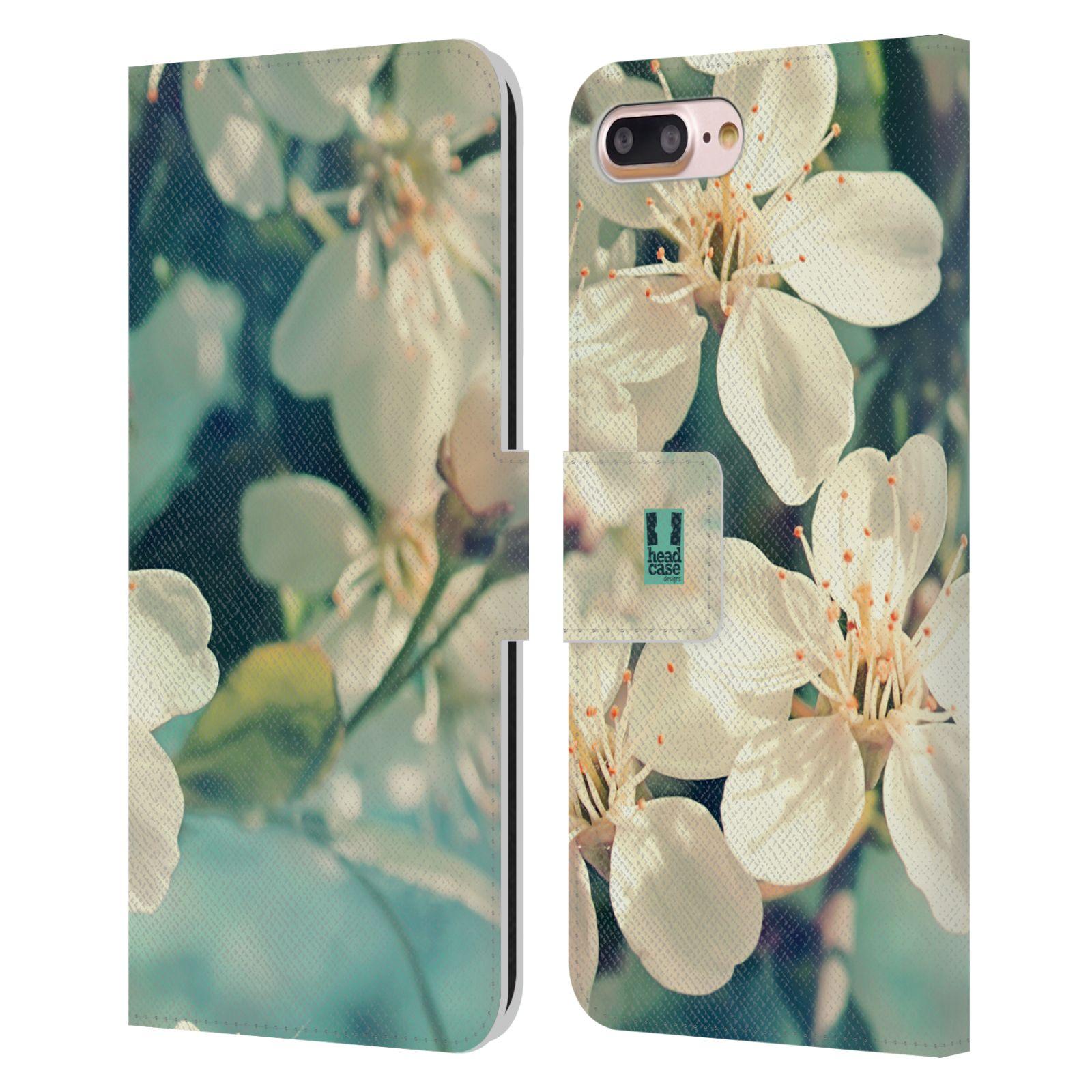 HEAD CASE Flipové pouzdro pro mobil Apple Iphone 7 PLUS / 8 PLUS květy foto rozkvetlá třešeň