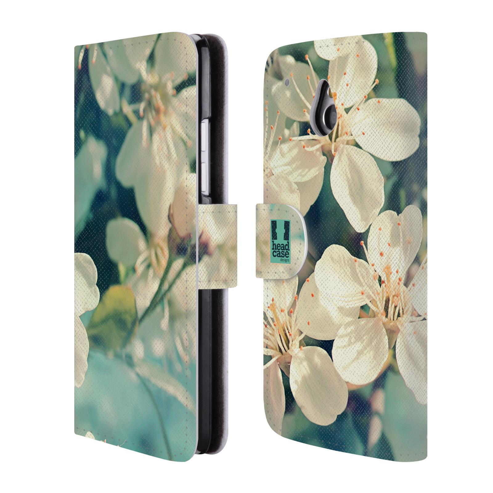 HEAD CASE Flipové pouzdro pro mobil HTC ONE MINI (M4) květy foto rozkvetlá třešeň