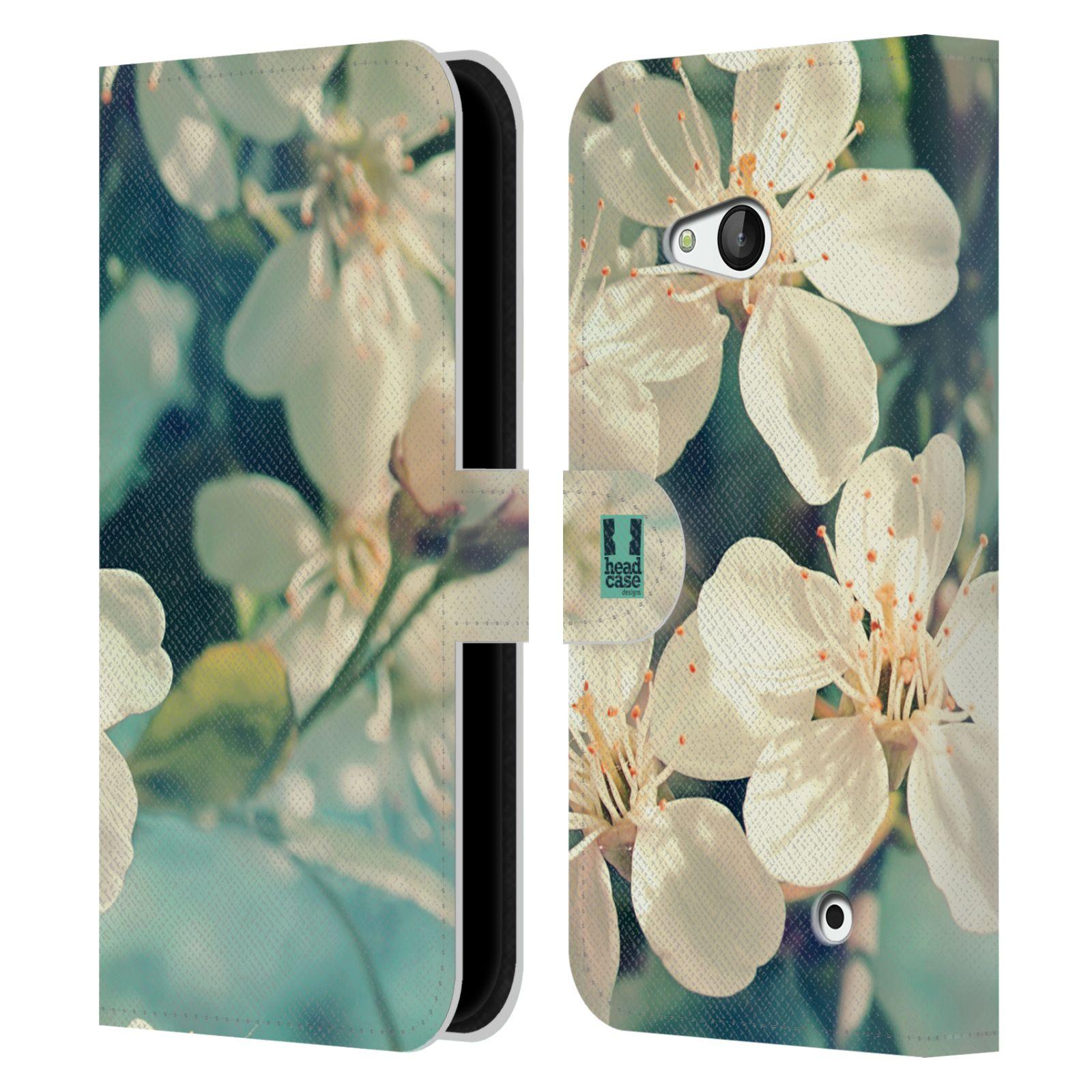 HEAD CASE Flipové pouzdro pro mobil NOKIA / MICROSOFT LUMIA 640 / LUMIA 640 DUAL květy foto rozkvetlá třešeň