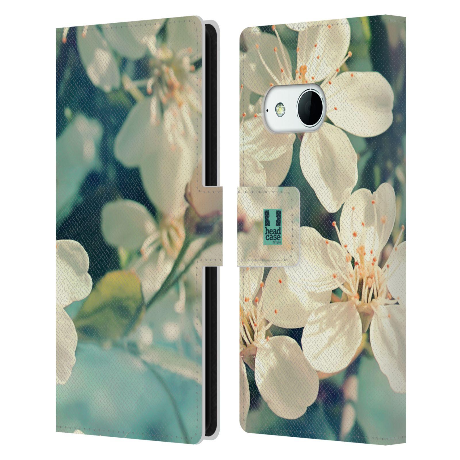 HEAD CASE Flipové pouzdro pro mobil HTC ONE MINI 2 (M8) květy foto rozkvetlá třešeň