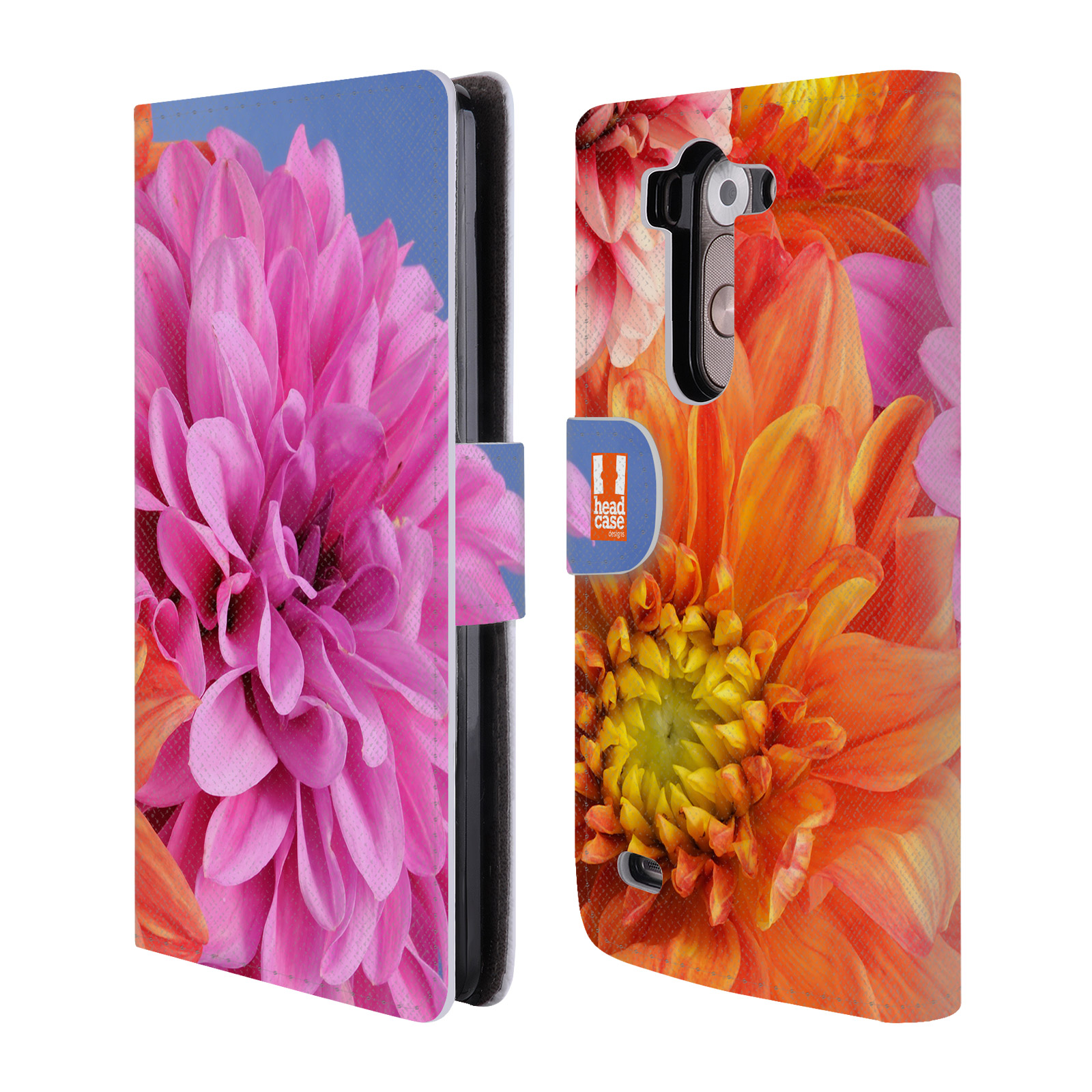 Head case designs flowers leather book wallet case for lg - Lg fridge with flower design ...