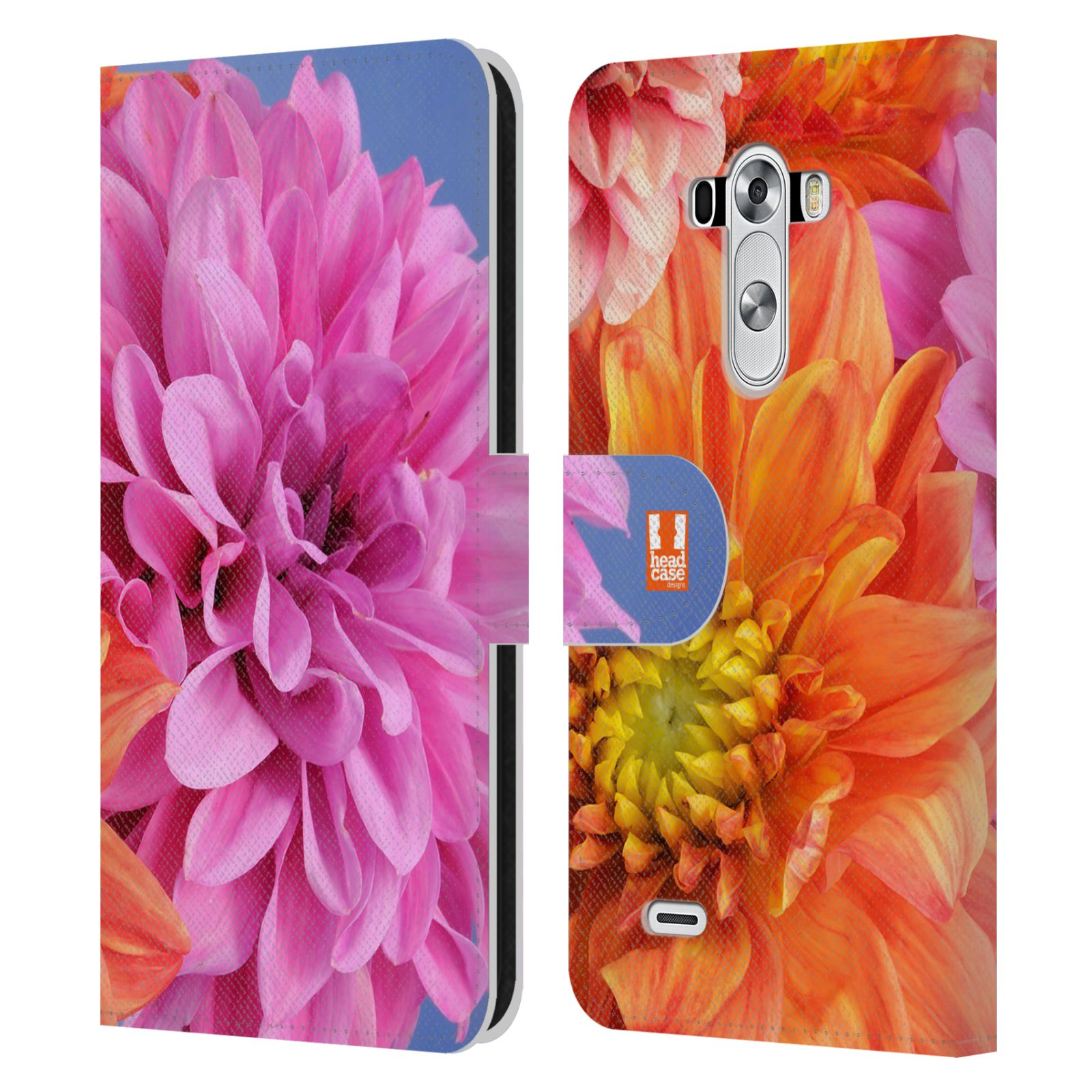 Head case designs flowers leather book wallet case cover - Lg fridge with flower design ...